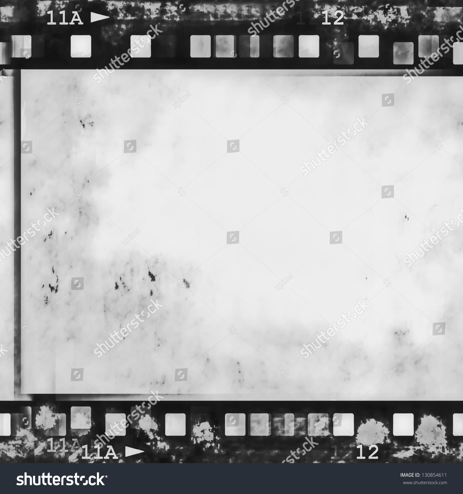 Old Grunge Film Strip Frame Background Stock Illustration 130854611 ...