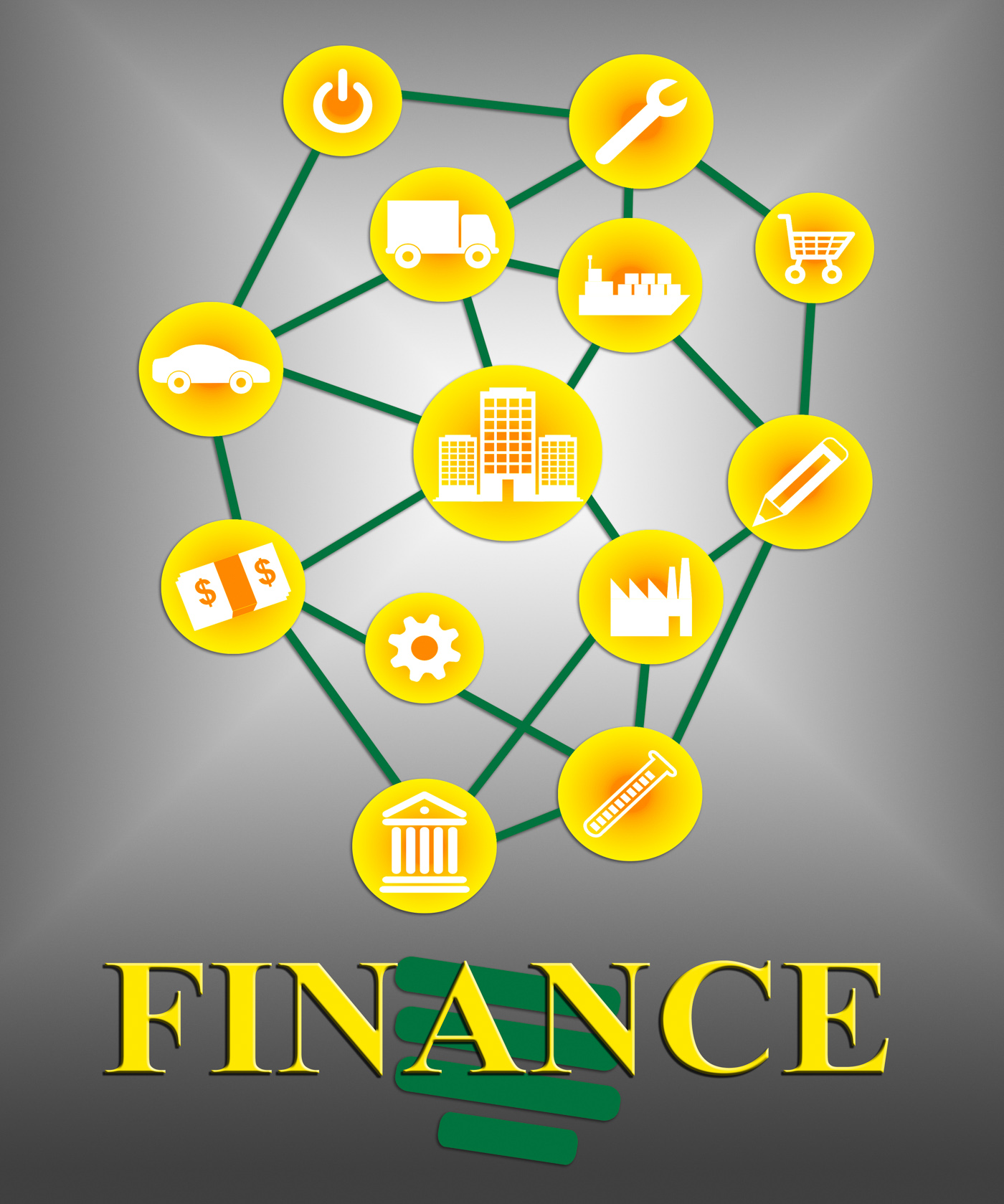 Finance icons shows accounting financial and figures photo
