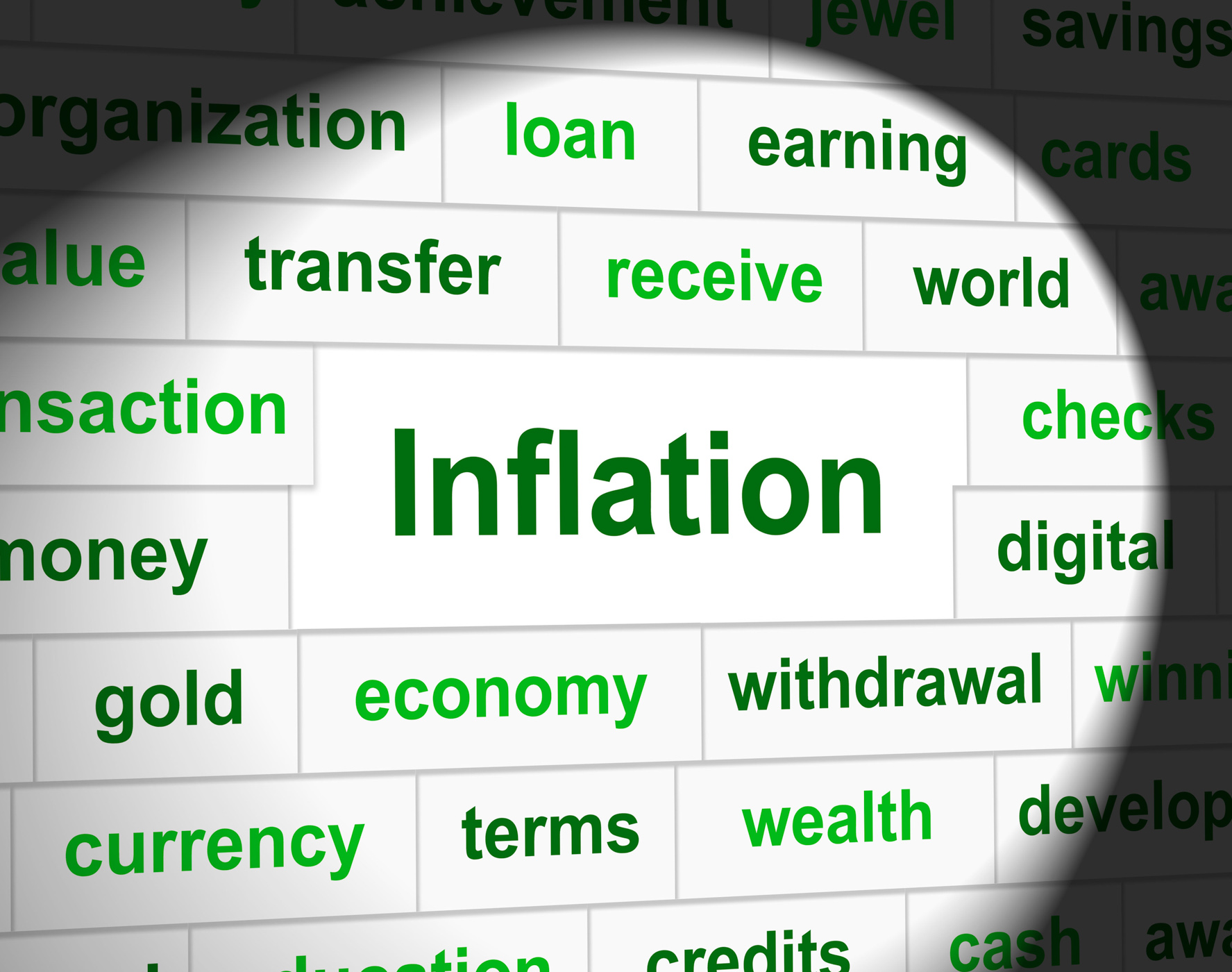 Finance inflation represents economic profit and increase photo