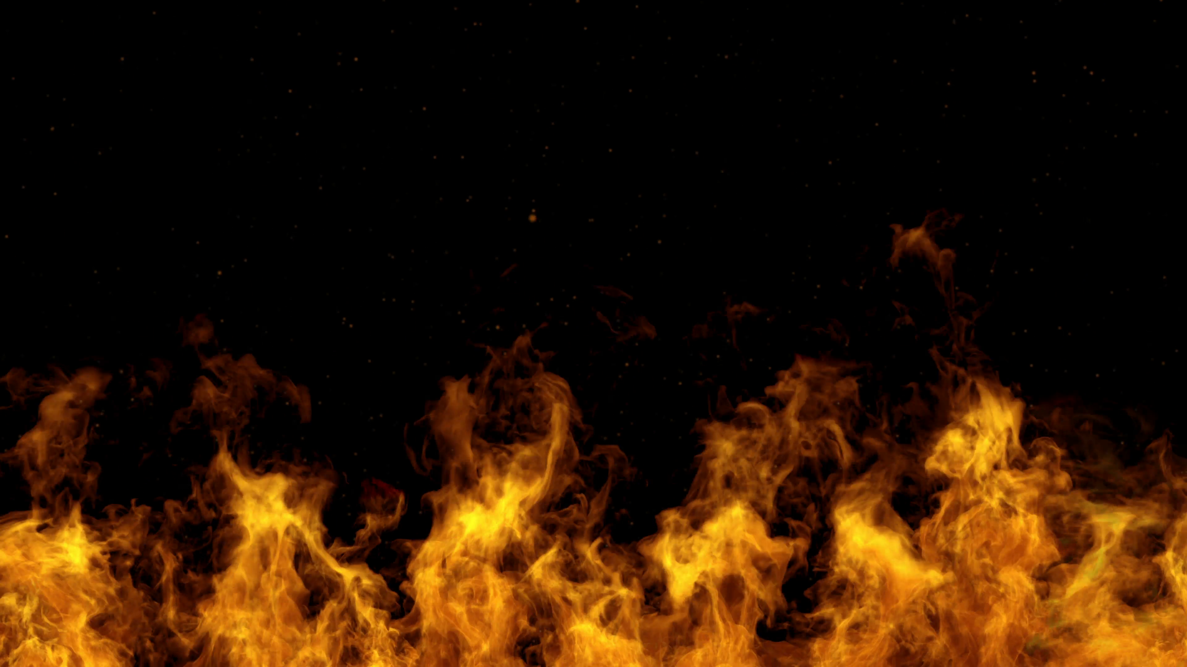 4K Detailed fire background (seamless loop, ultra Hd ,slow motion ...