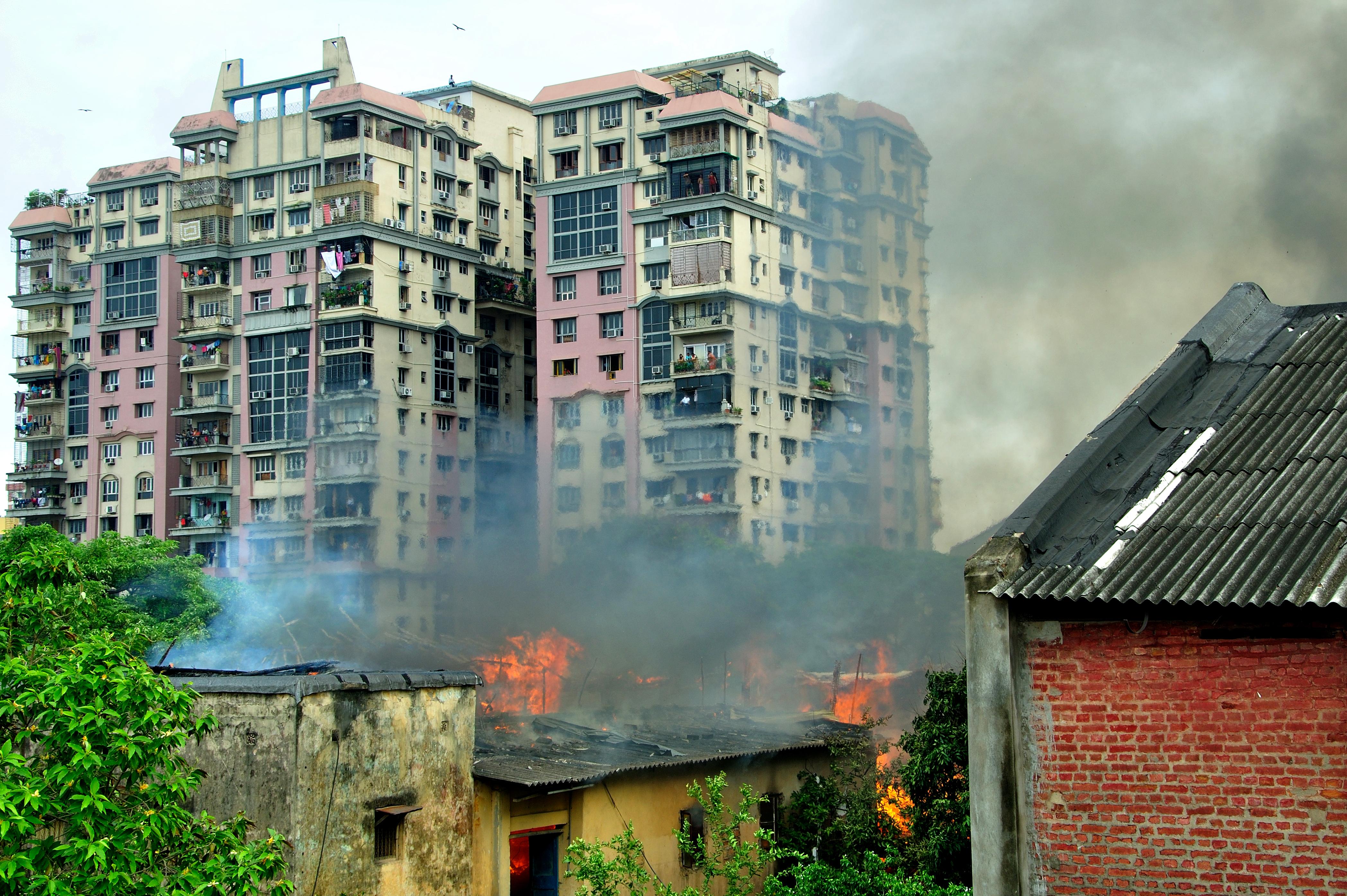 Fire, Buildings, Danger, Flames, Smoke, HQ Photo