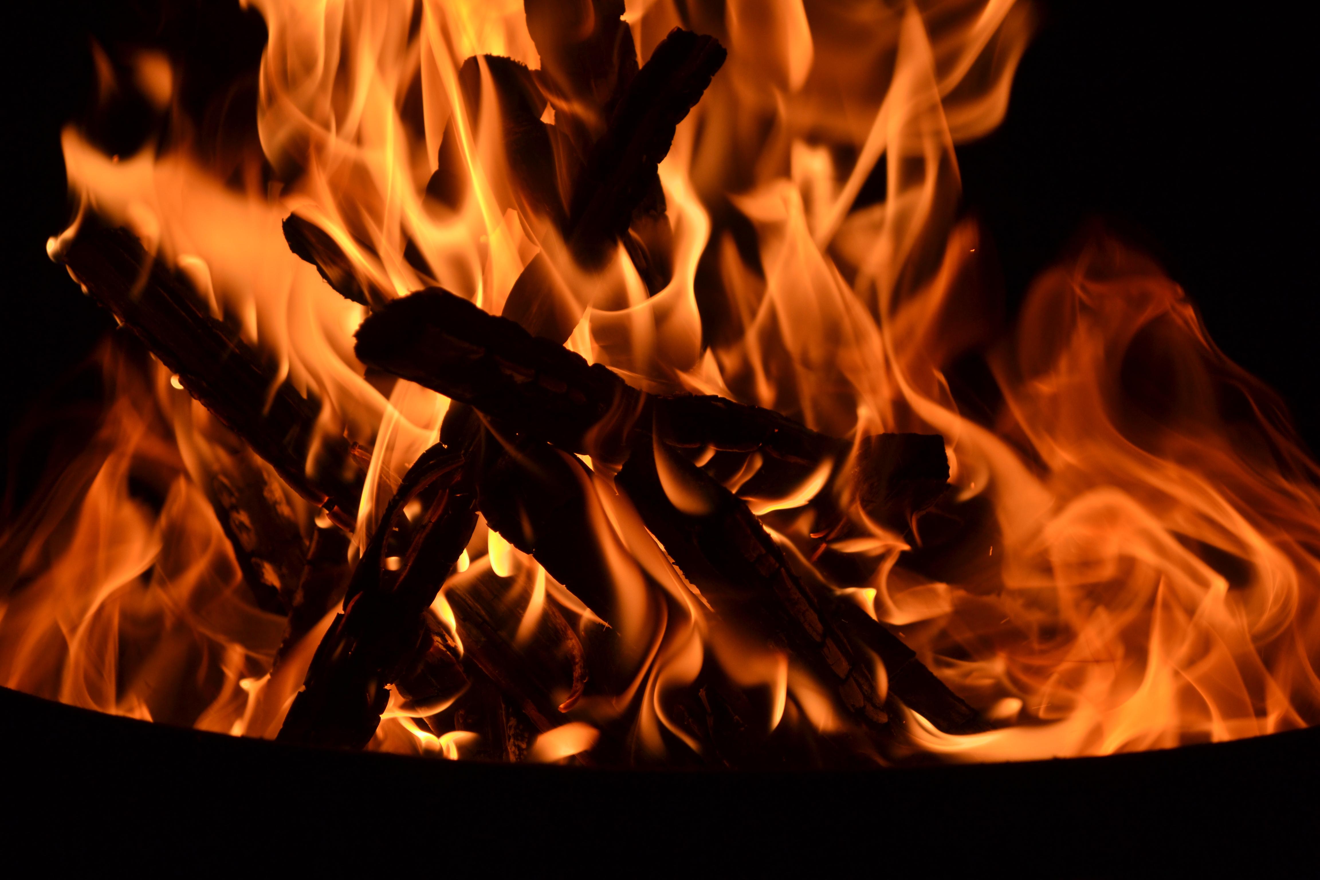Fire - Burning Wood, Hot, Night, Flames, Flame, HQ Photo