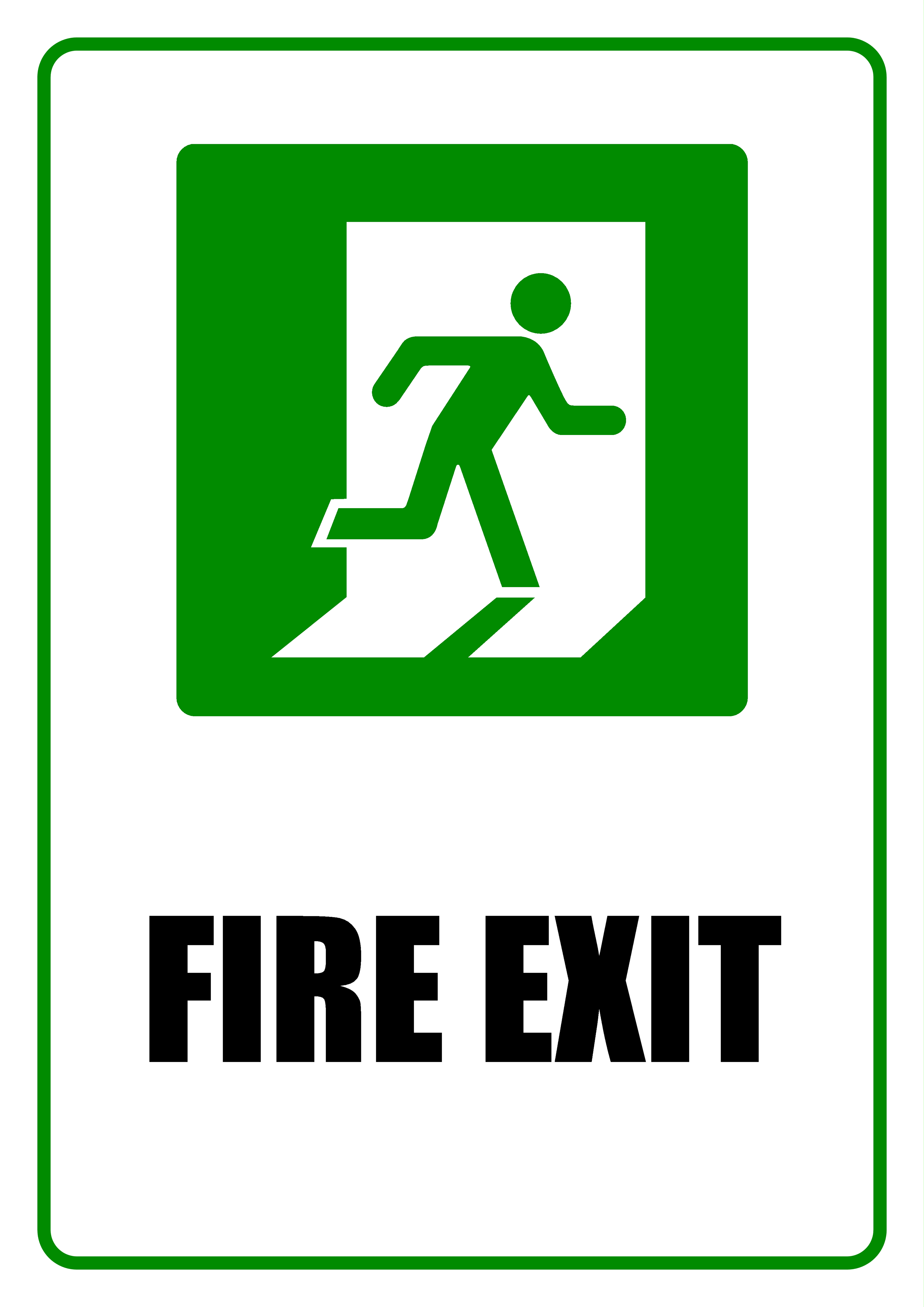 Fire Exit - Sign, White, Sign, Green, Exit, HQ Photo