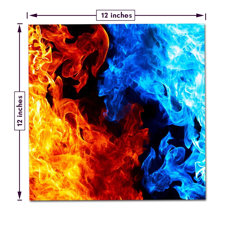 Amazon.com: Craftopia's Fire / Flames Printed Pattern Self Adhesive ...