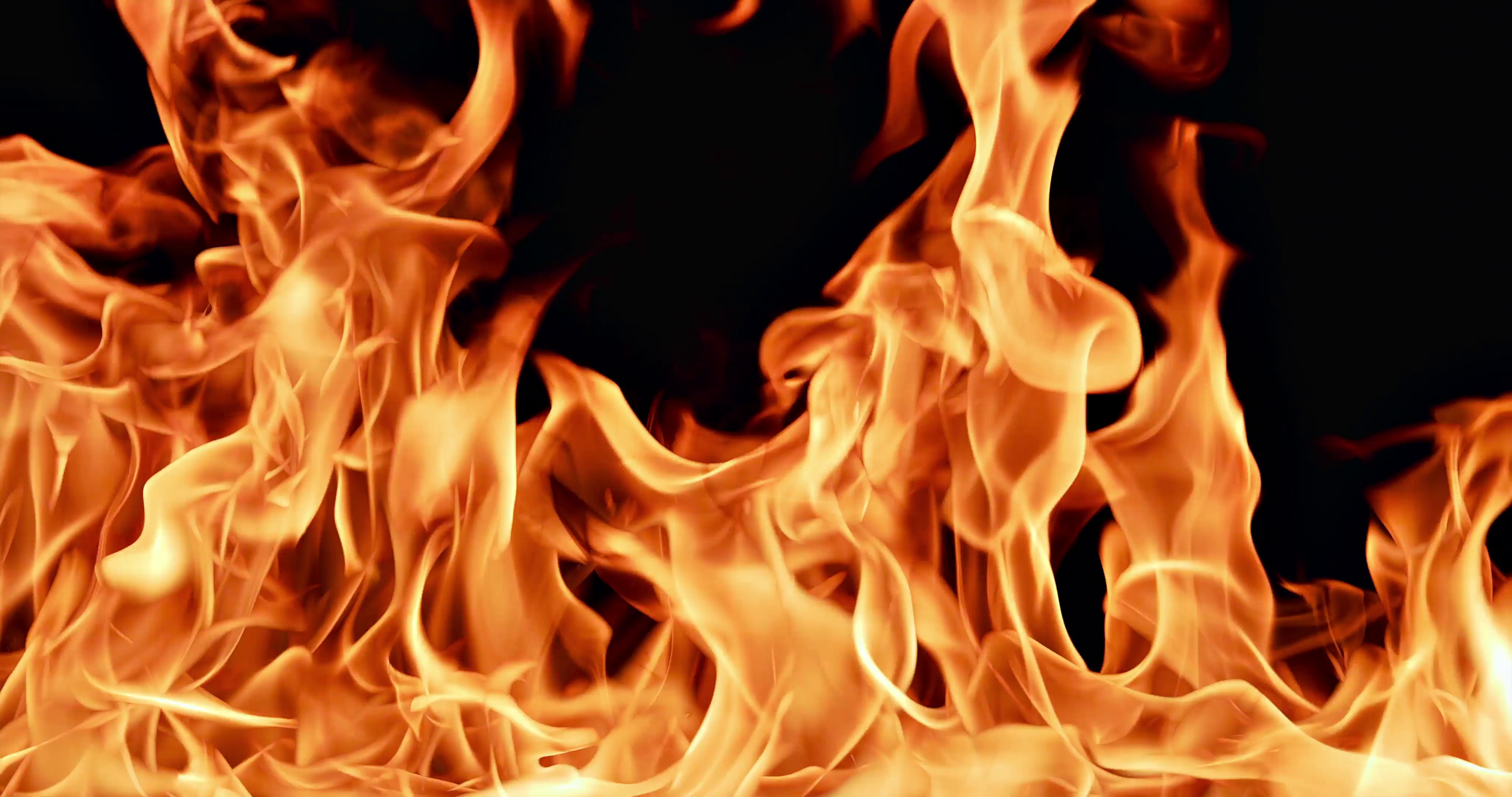 Fire flames. Slow motion. Isolated on black background. Stock Video ...