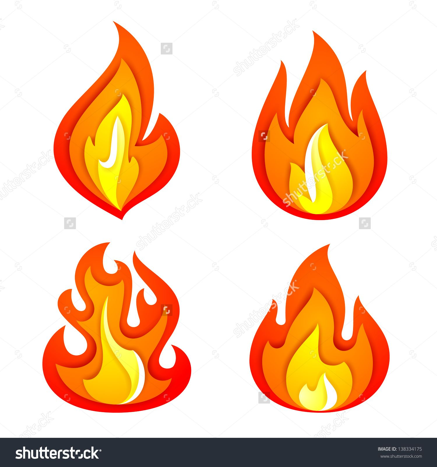 Fire Flames Isolated Stock Vectors & Vector Clip Art | Shutterstock ...