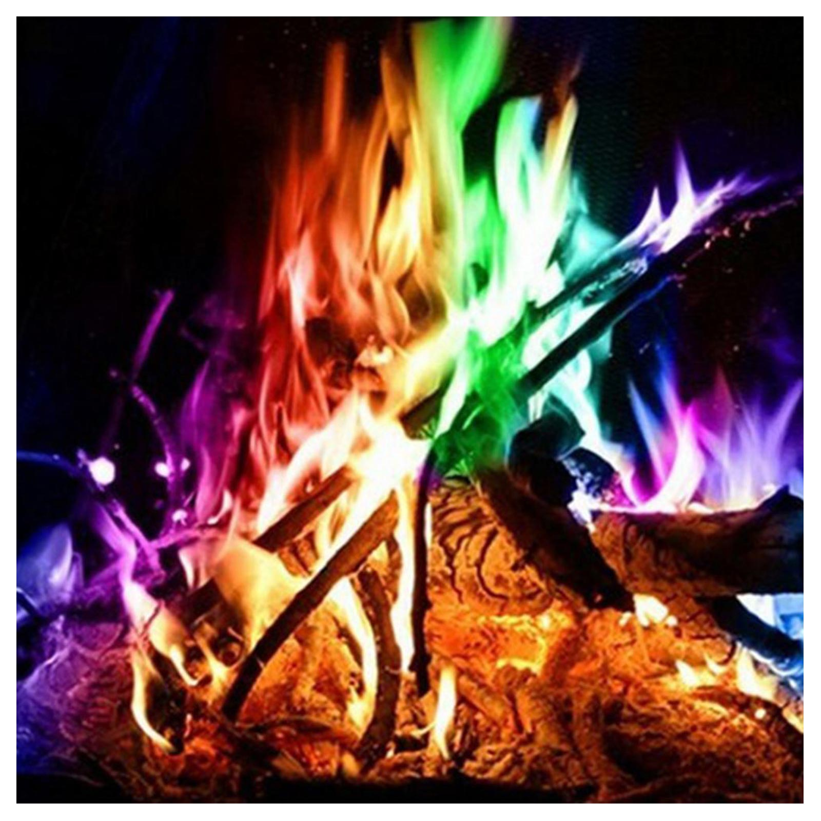 Mystical Fire (50 Pack) Magical Colourful Fire Flames Outdoor Colour ...