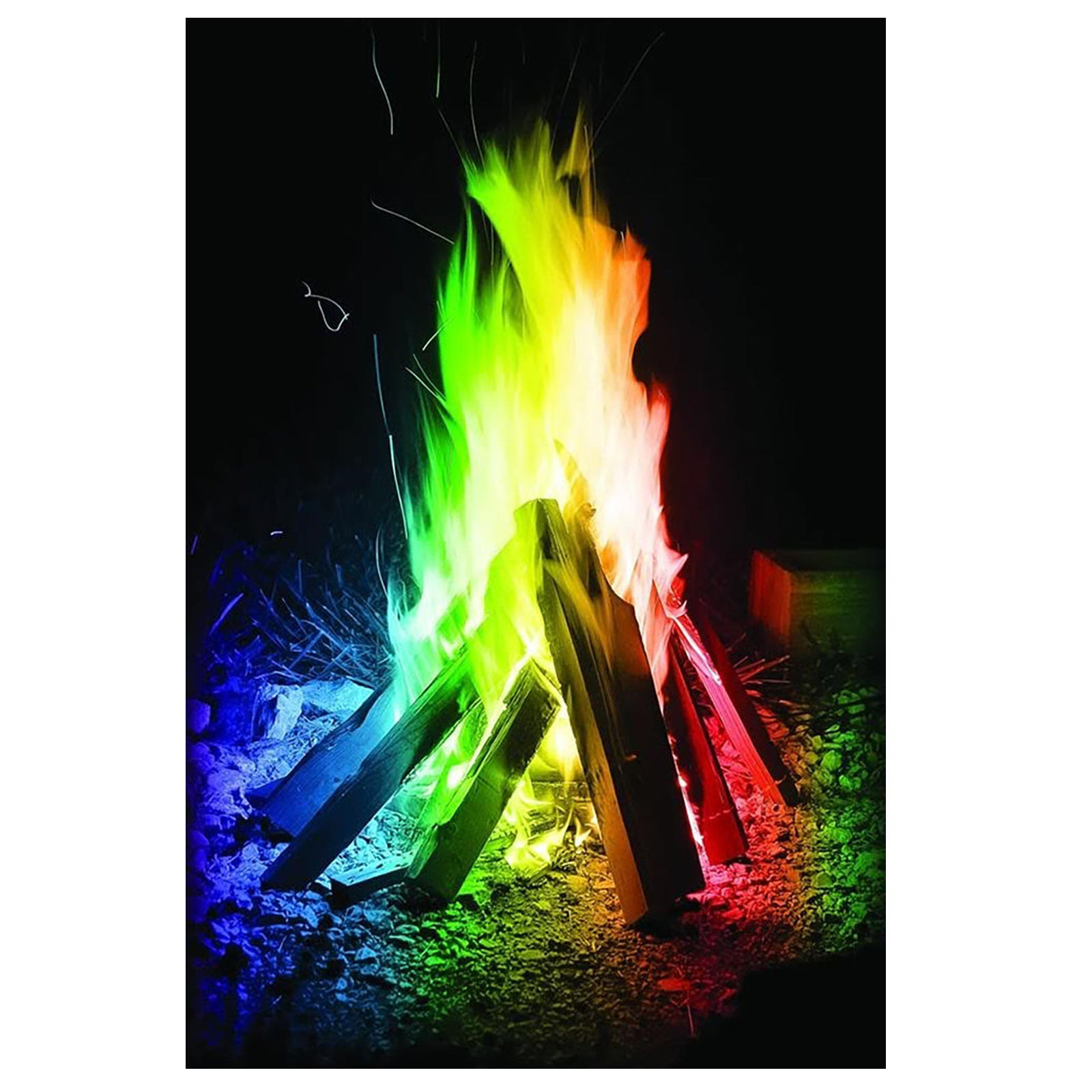 Mystical Fire (20 Pack) Magical Colourful Fire Flames Outdoor Colour ...