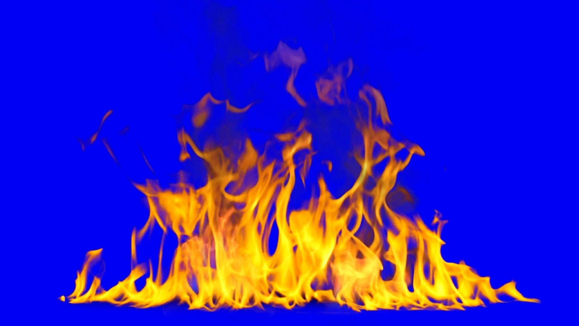Fire & Flames Blue Screen - YouTube