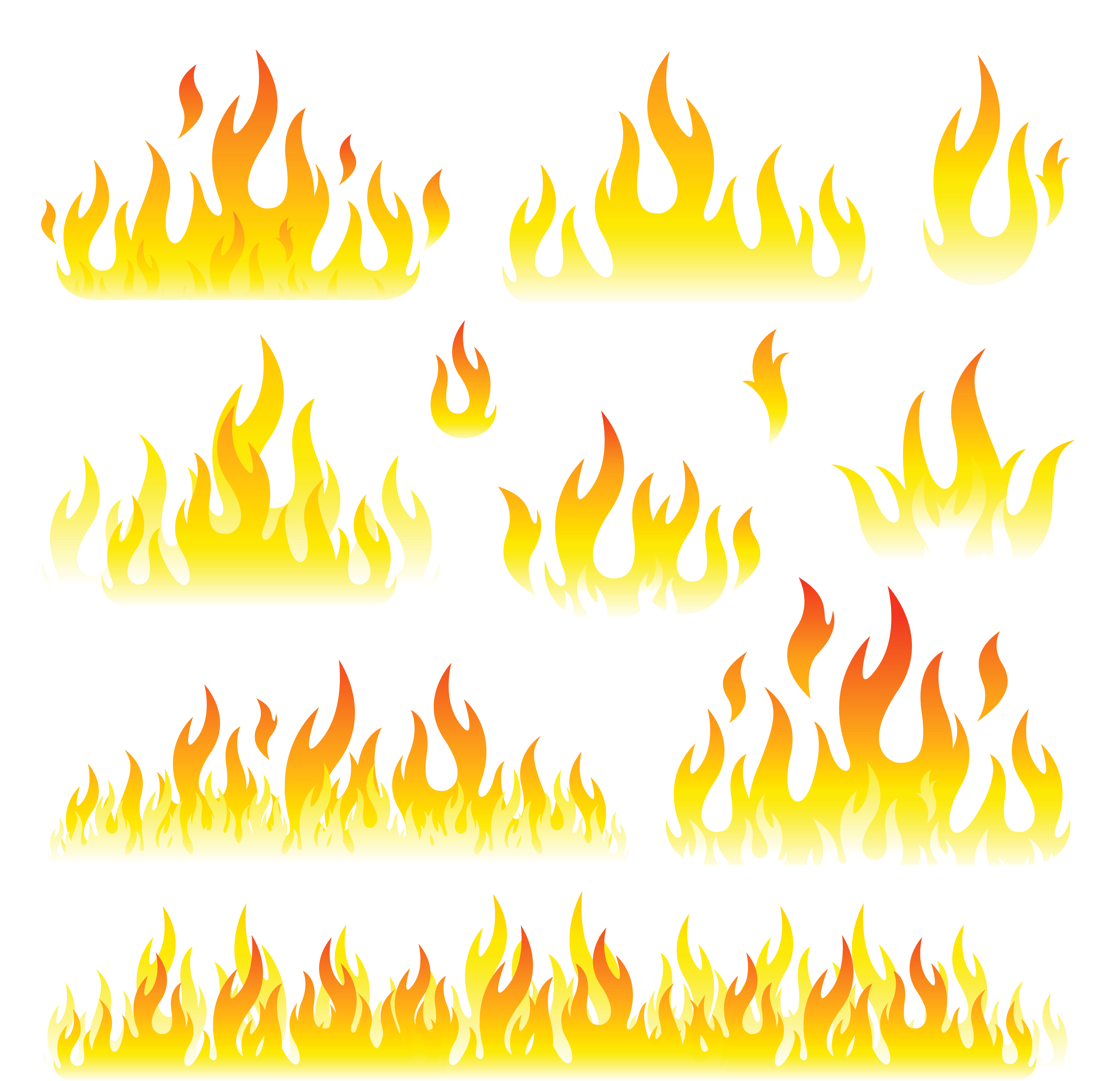 Flames Set PNG Clipart Picture | Gallery Yopriceville - High ...
