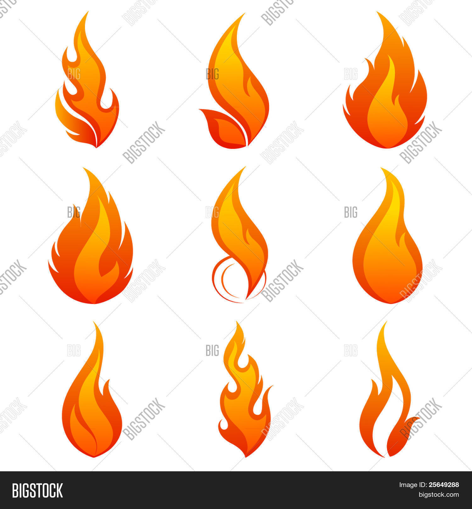 Fire Flames. Collage Vector & Photo | Bigstock