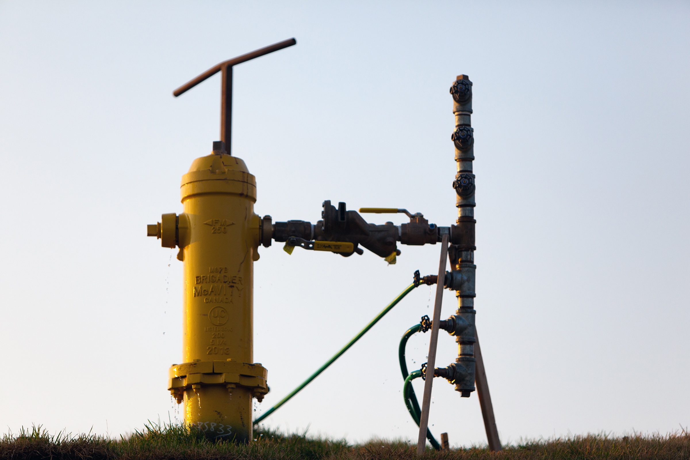 Fire Hydrant, Chain, Pressure, Outlet, Outside, HQ Photo