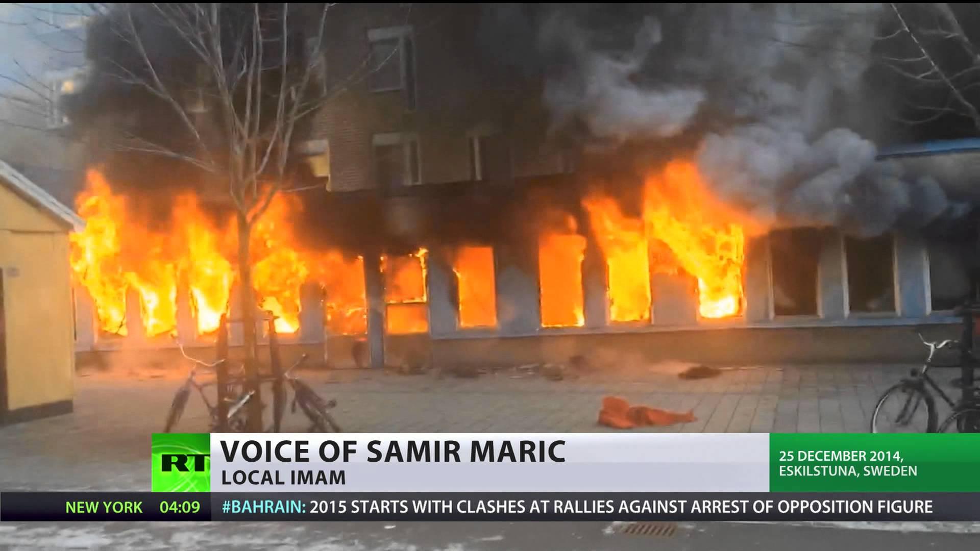 Fire in sweden photo