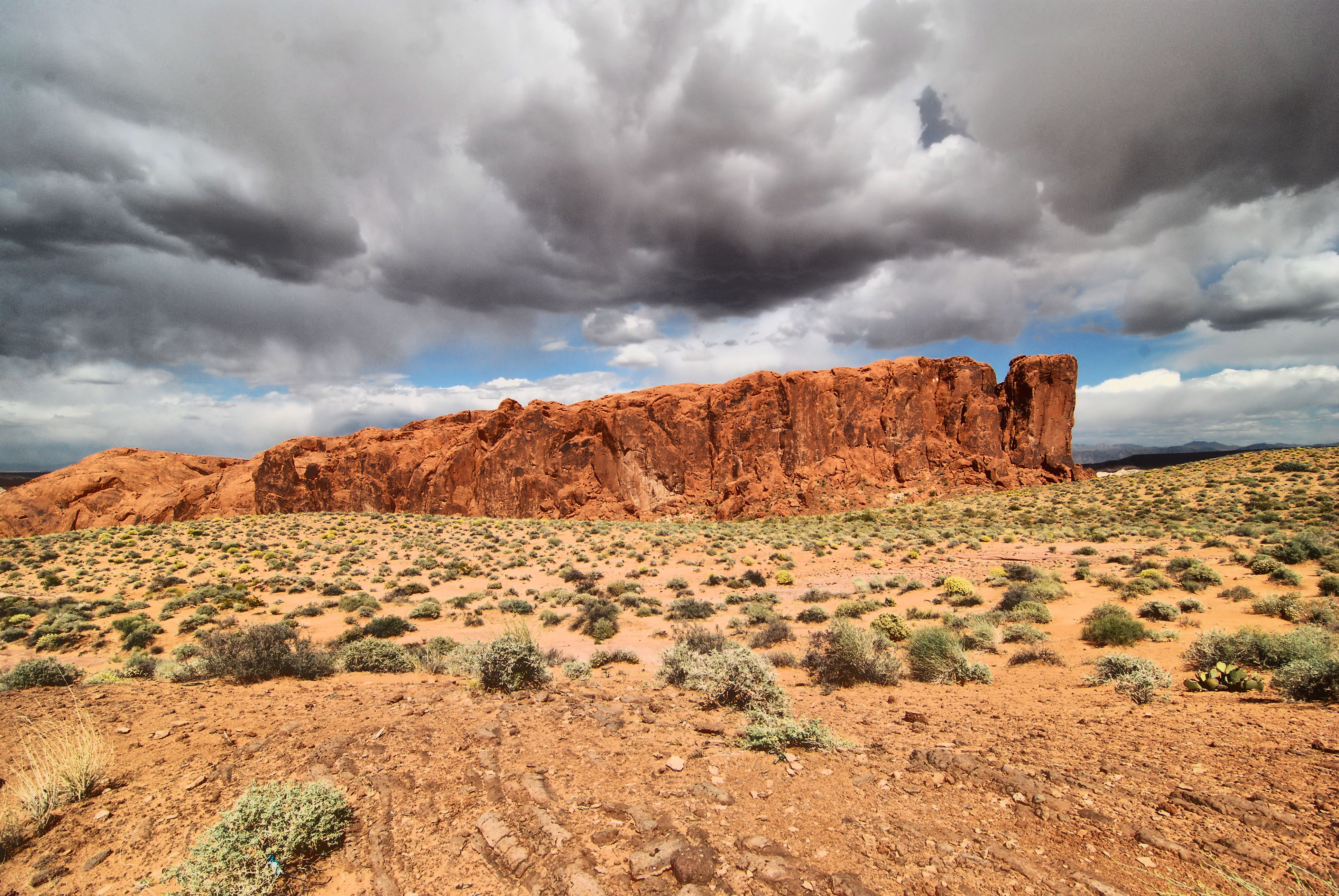 Fire on the Mountain, Clouds, Desert, Landscape, Mountain, HQ Photo