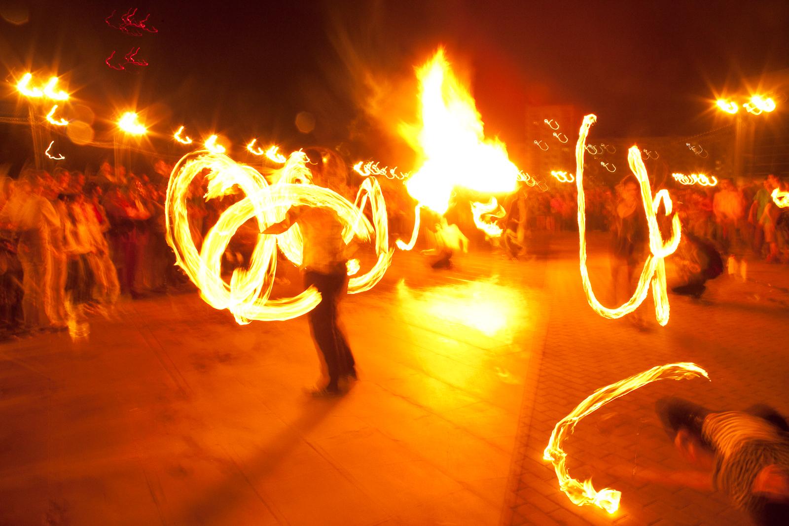 Fire show photo
