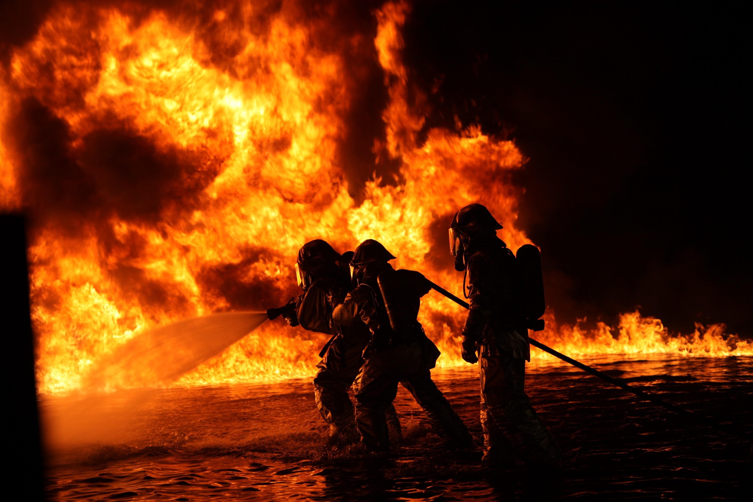 Firemen training photo