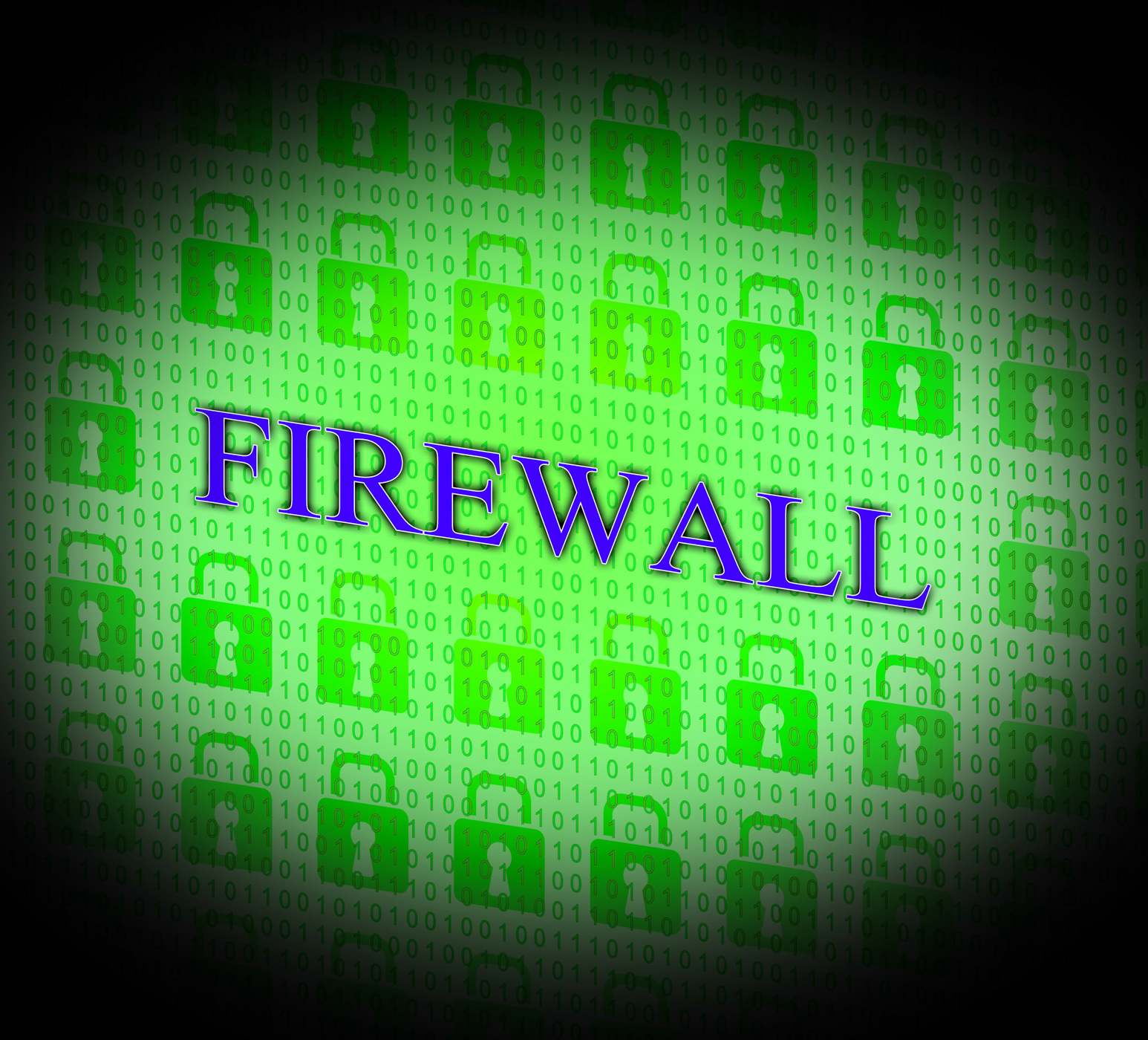 Firewall security means no access and encrypt photo