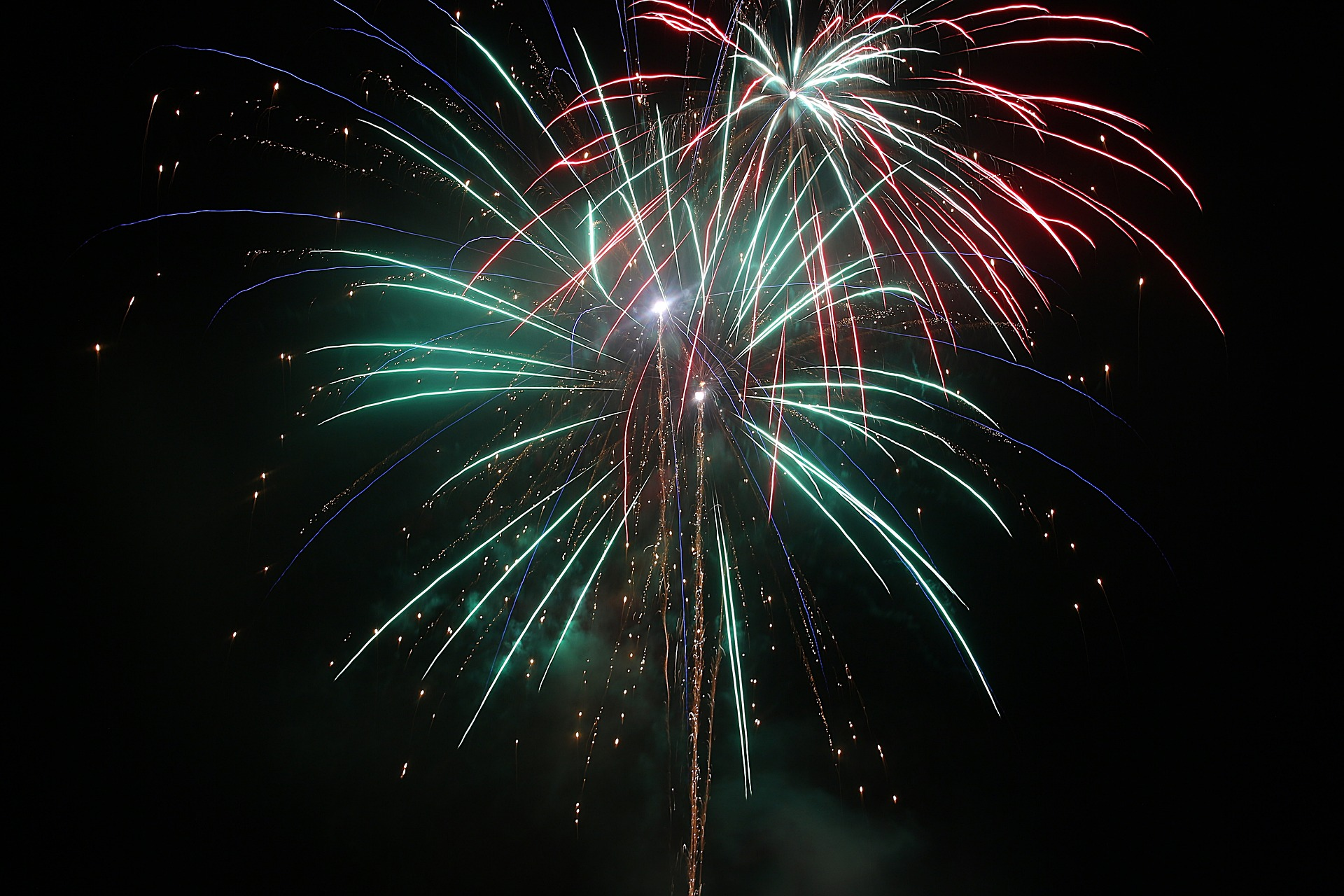 Fireworks, Bonfire, Celebrate, Celebration, Colorful, HQ Photo