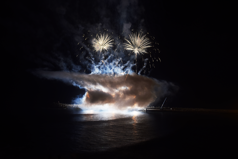 Fireworks and Smoke, Celebration, Fireworks, Lights, Night, HQ Photo