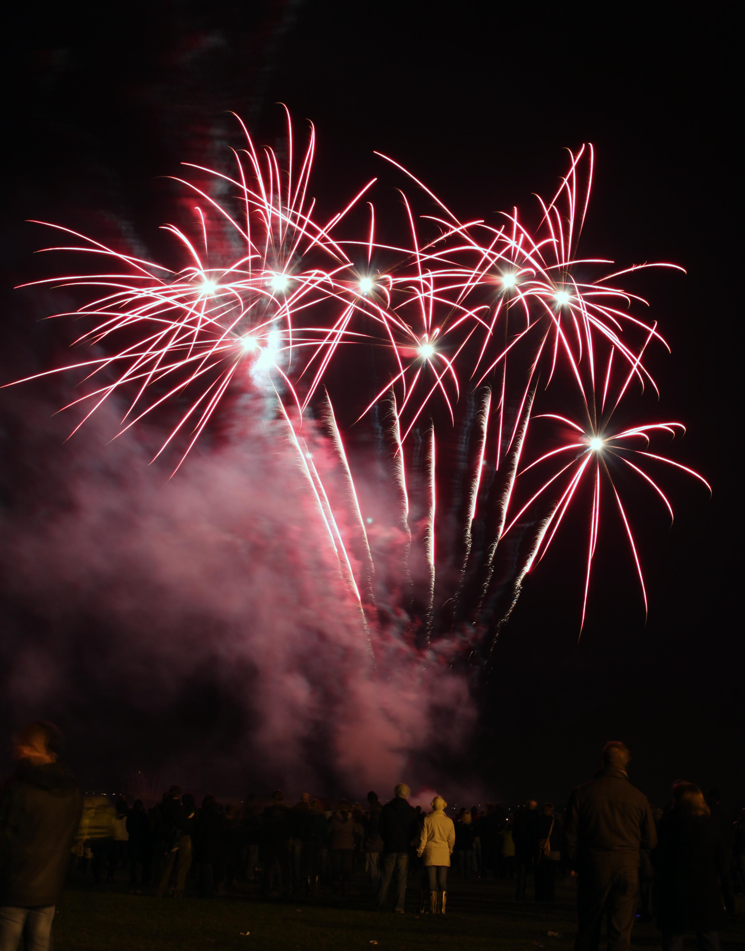 Free photo: Fireworks Display - Night, New year's eve, New year