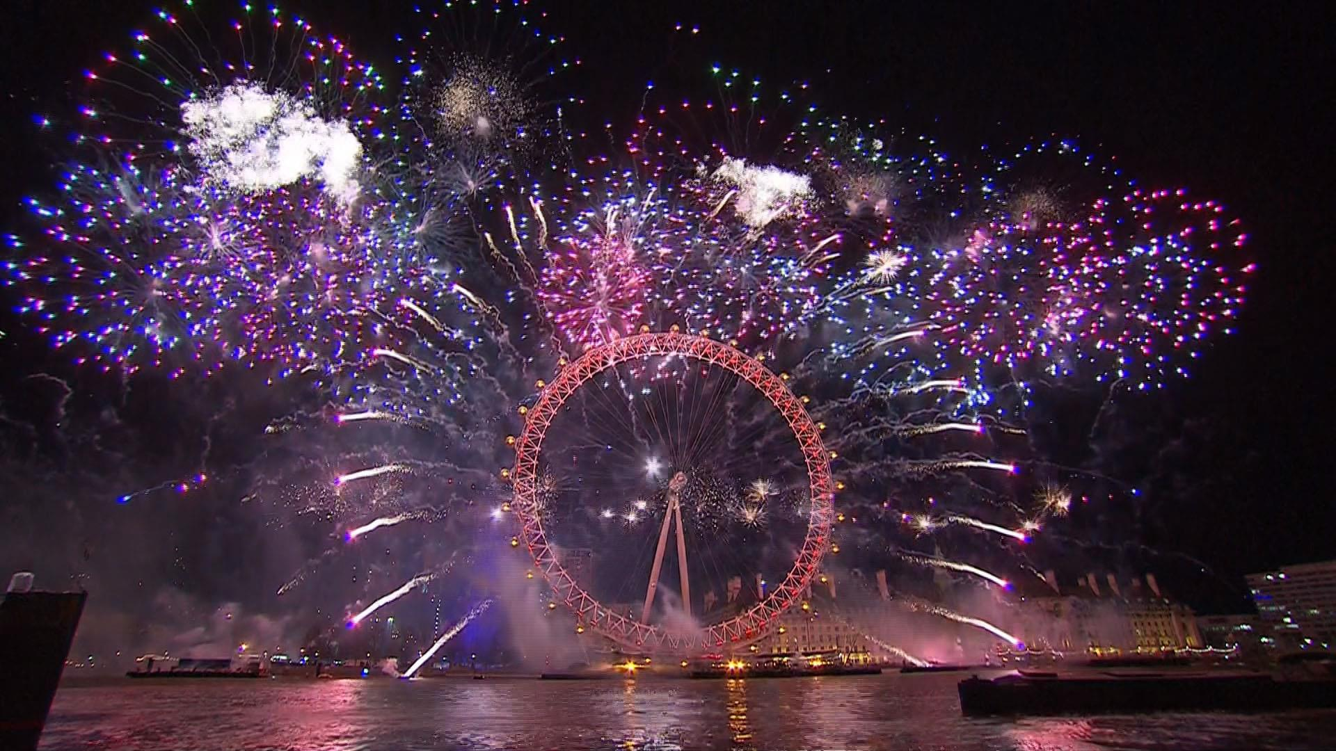 Watch London Fireworks display on New Year's Eve