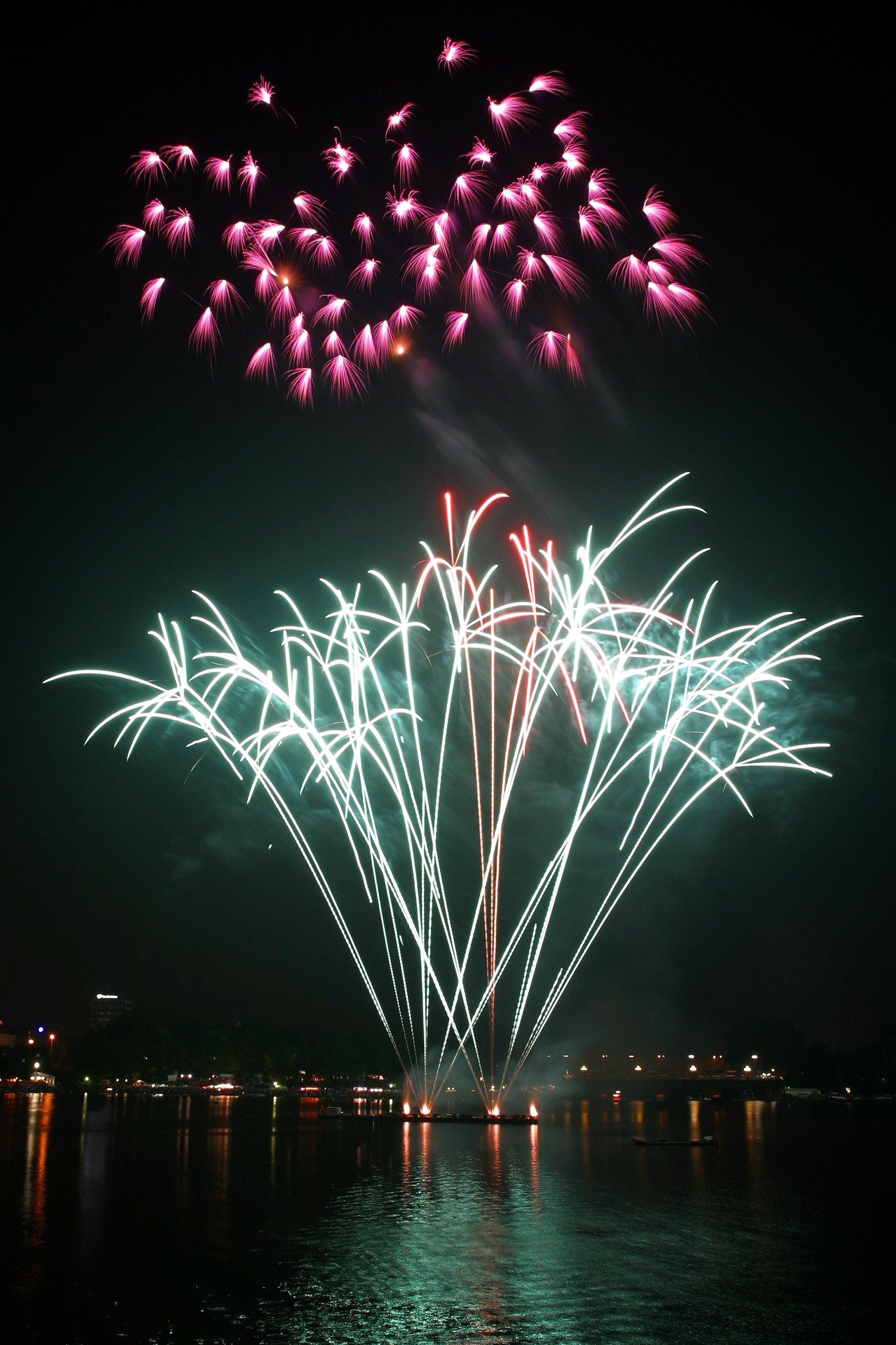 Fireworks Display during Nighttime, 2018, Light, Sparks, Sparkler, HQ Photo