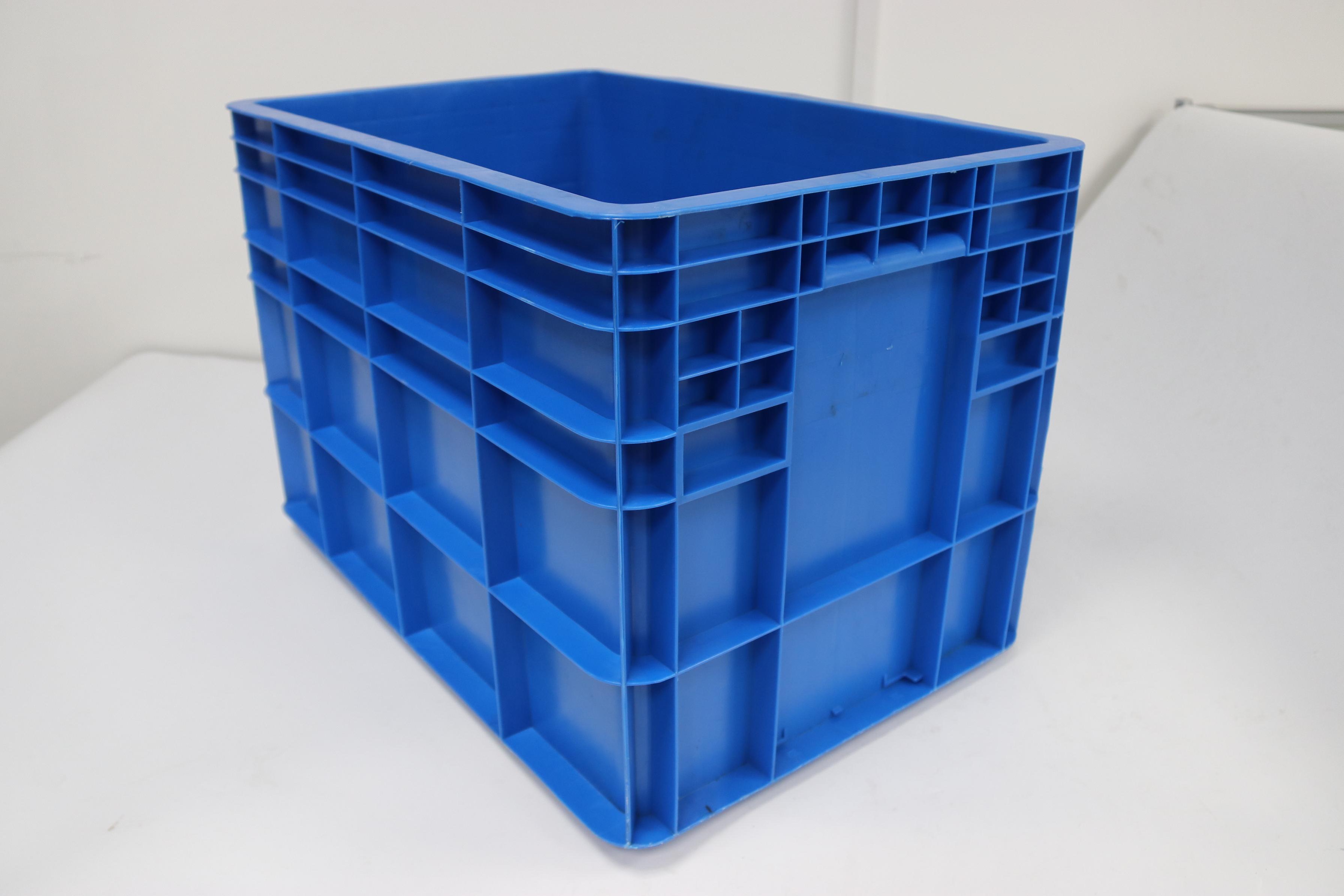 Plastic fish boxes photo