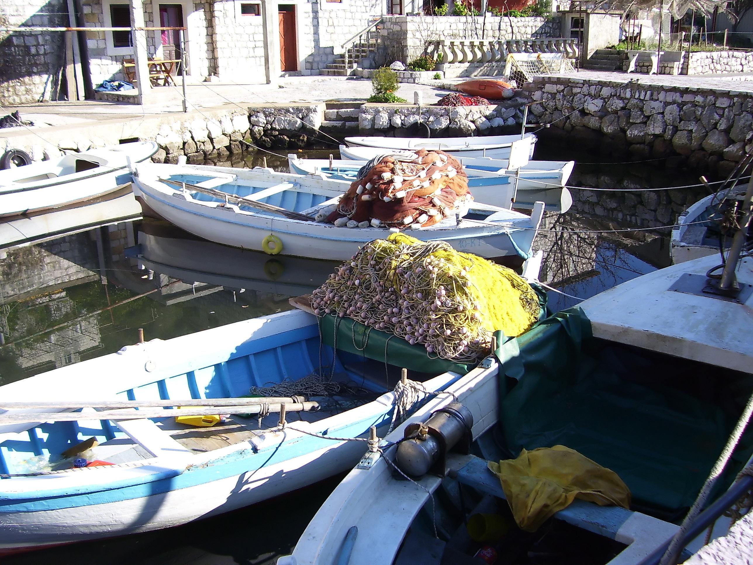 Fishermen boats photo