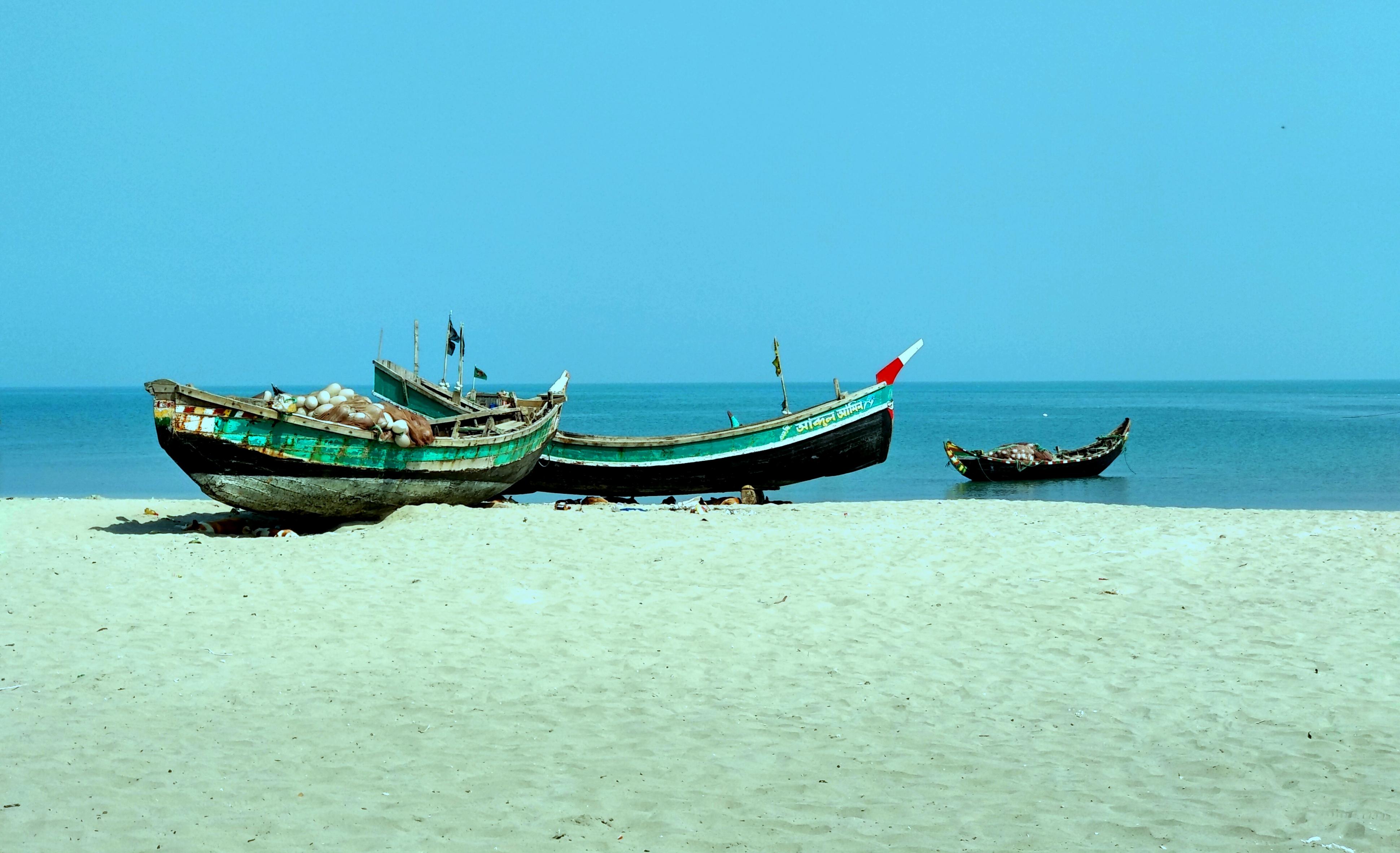Fishing Boat, Saint Martin's Island, Teknaf, Cox's Bazar, Afternoon, Sea, Ocean, Photography, HQ Photo