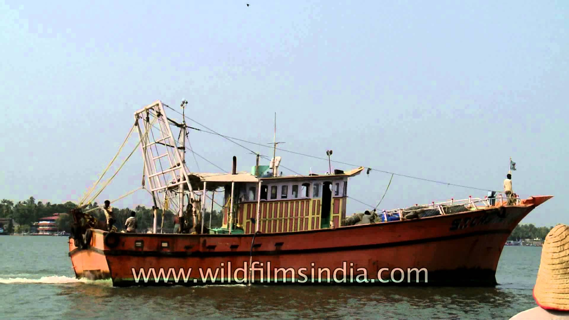 Fishing boats at Munambam harbour, Vypeen Island - YouTube