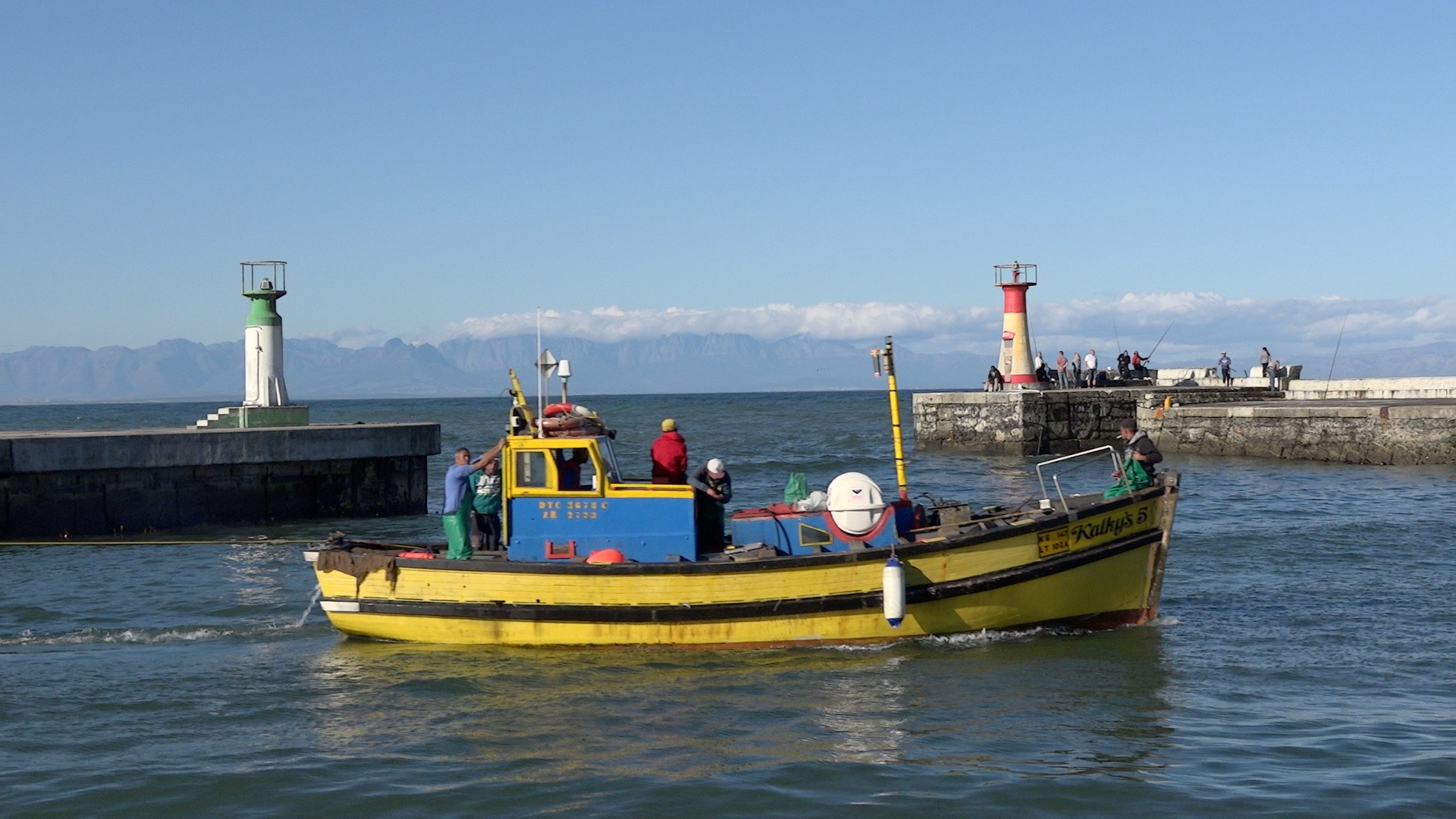 Stock video of Kalk Bay fishing boats cruising in harbour ID: 190 ...