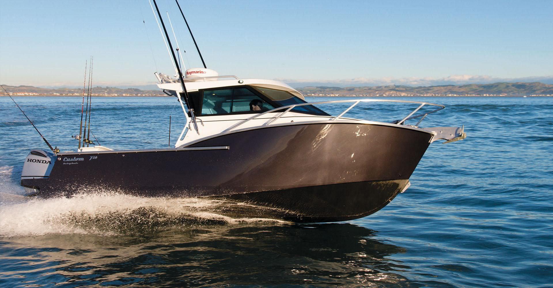 Outboard cabin cruiser / hard-top / sport-fishing - CUSTOM 750 XS ...