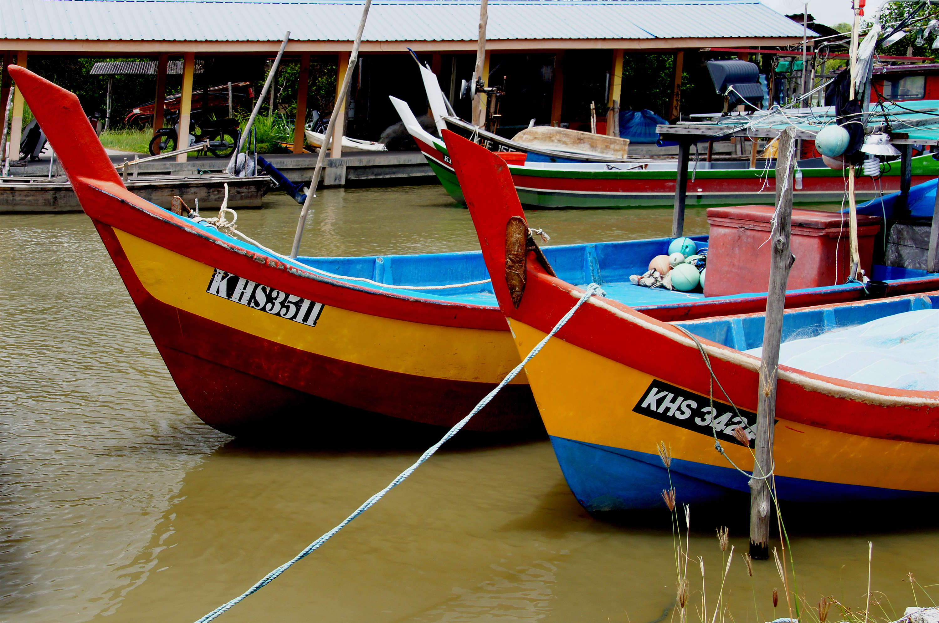 Fishing boats of malaysia (6) photo
