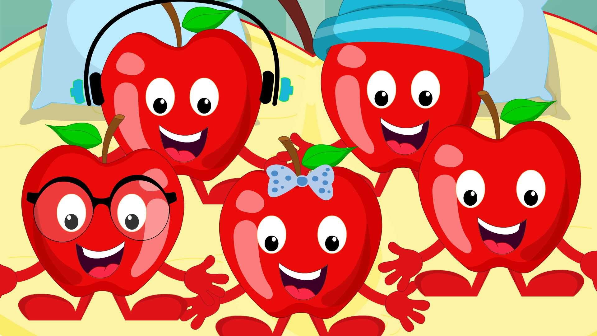 Five Little Apples | Kids Nursery Rhyme | Children's Song | Video ...