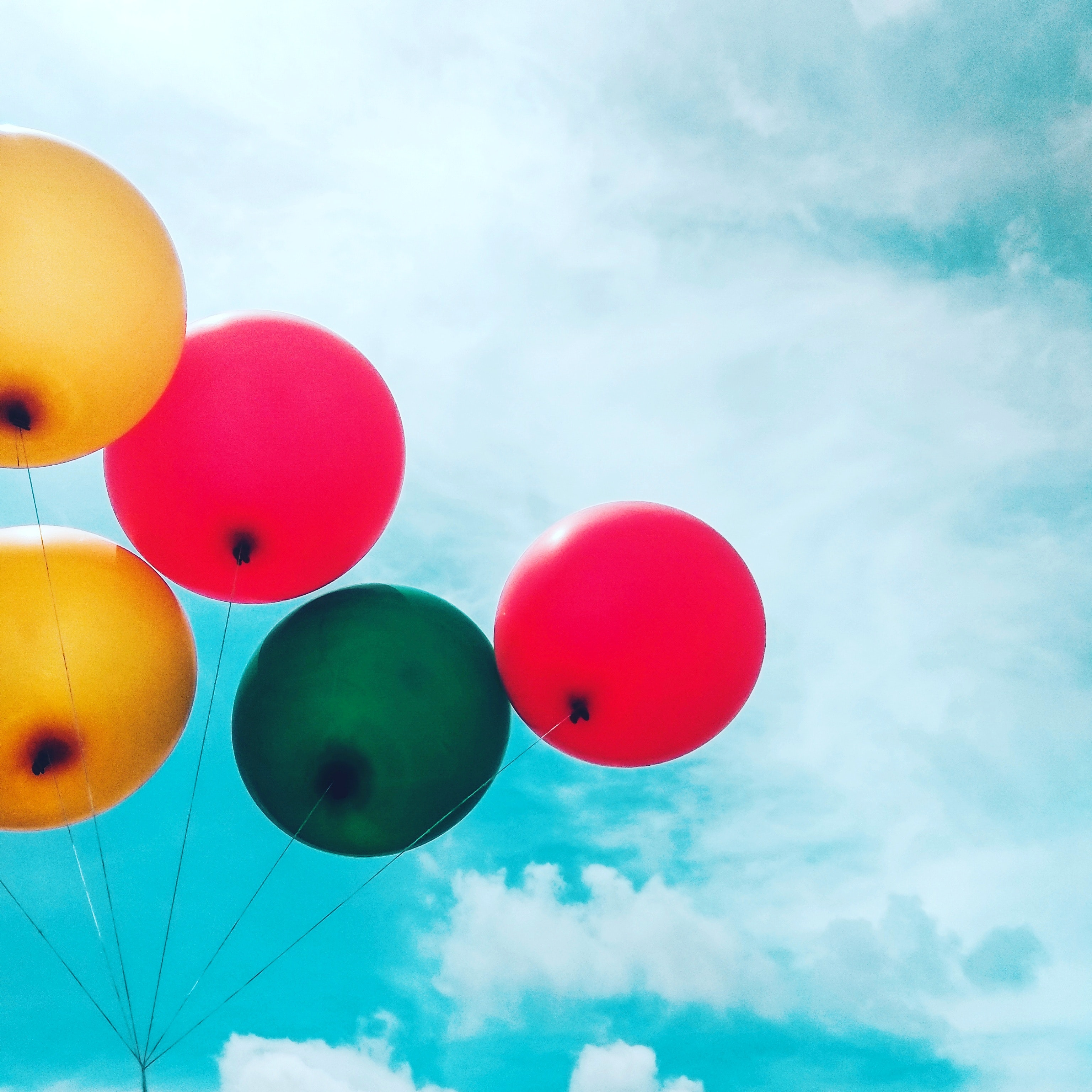 Five assorted balloons photo