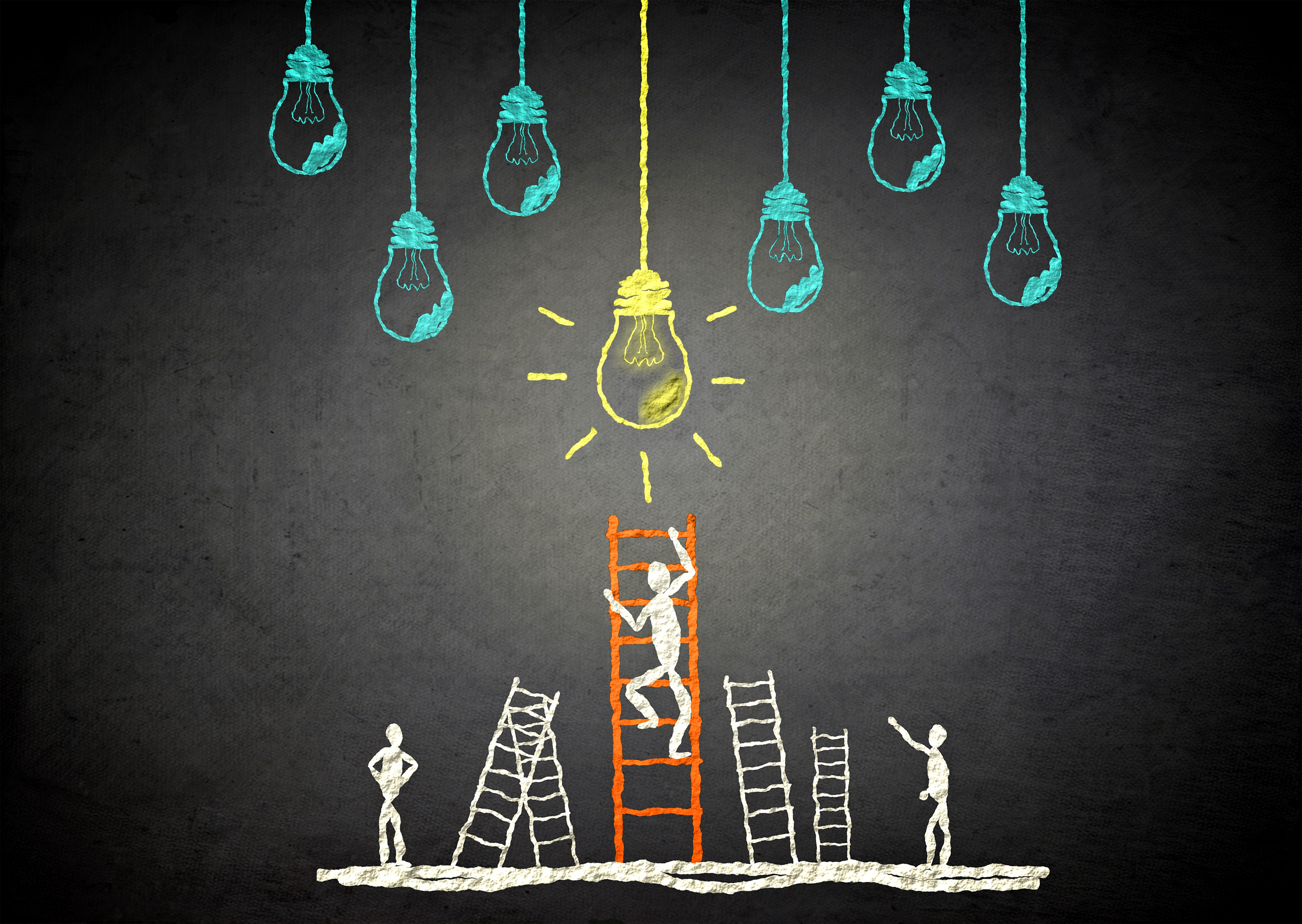 Fixing the light - Ideas and creativity concept, Alternating, Modern, Progress, Power, HQ Photo