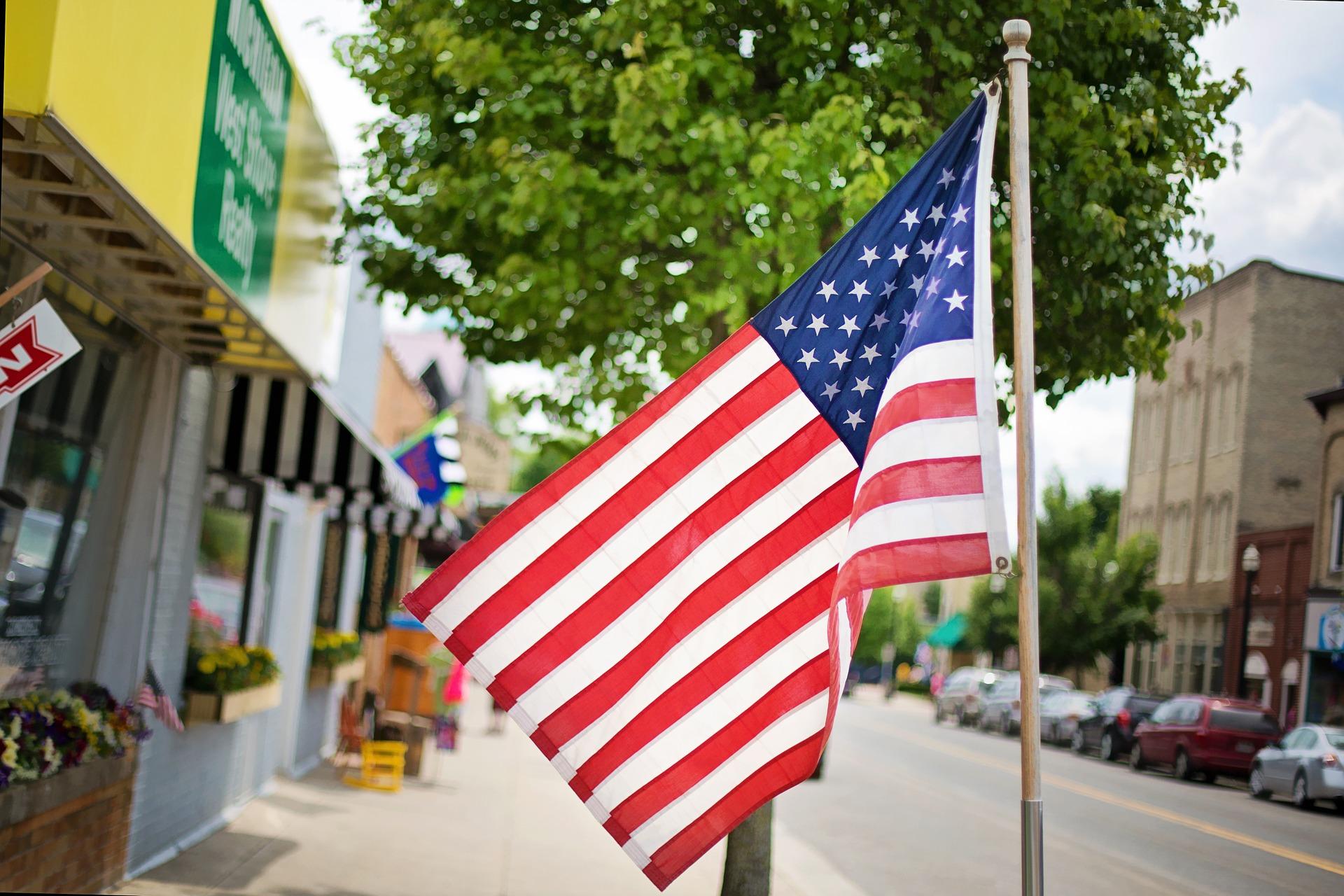 Flag of america photo