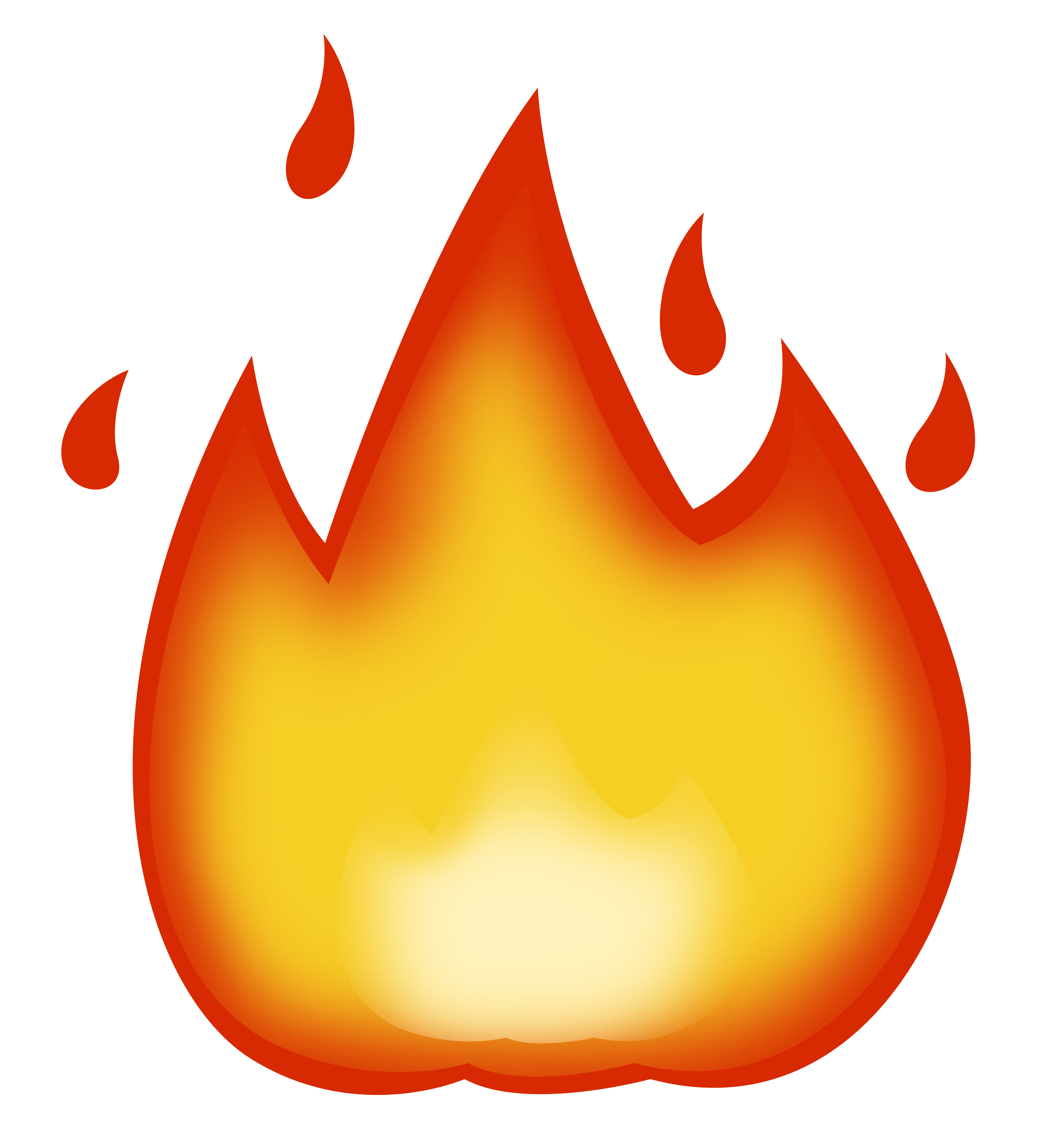 Flame Emoji Cutouts - Oversized Cutouts - Build A-Head