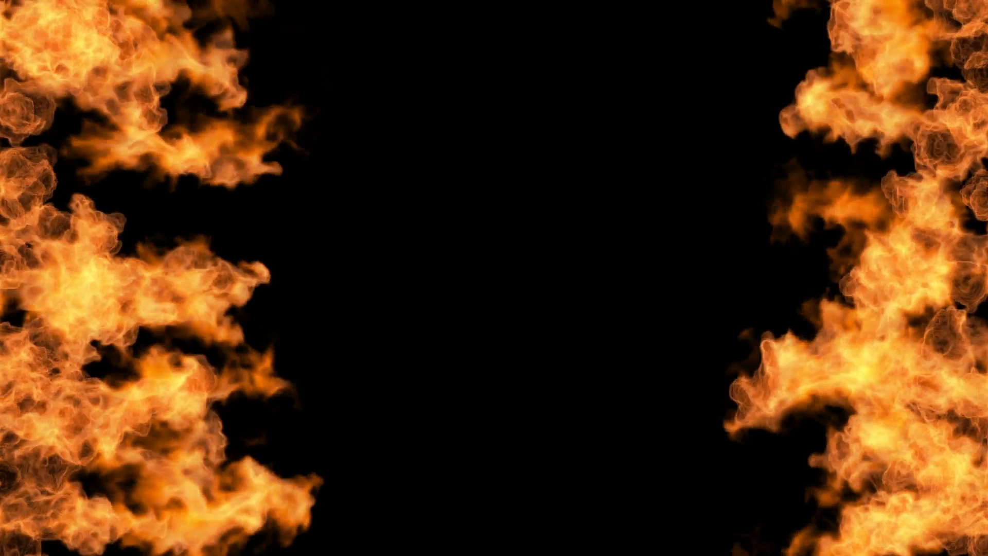 igniting fire flame background isolated on black background Motion ...