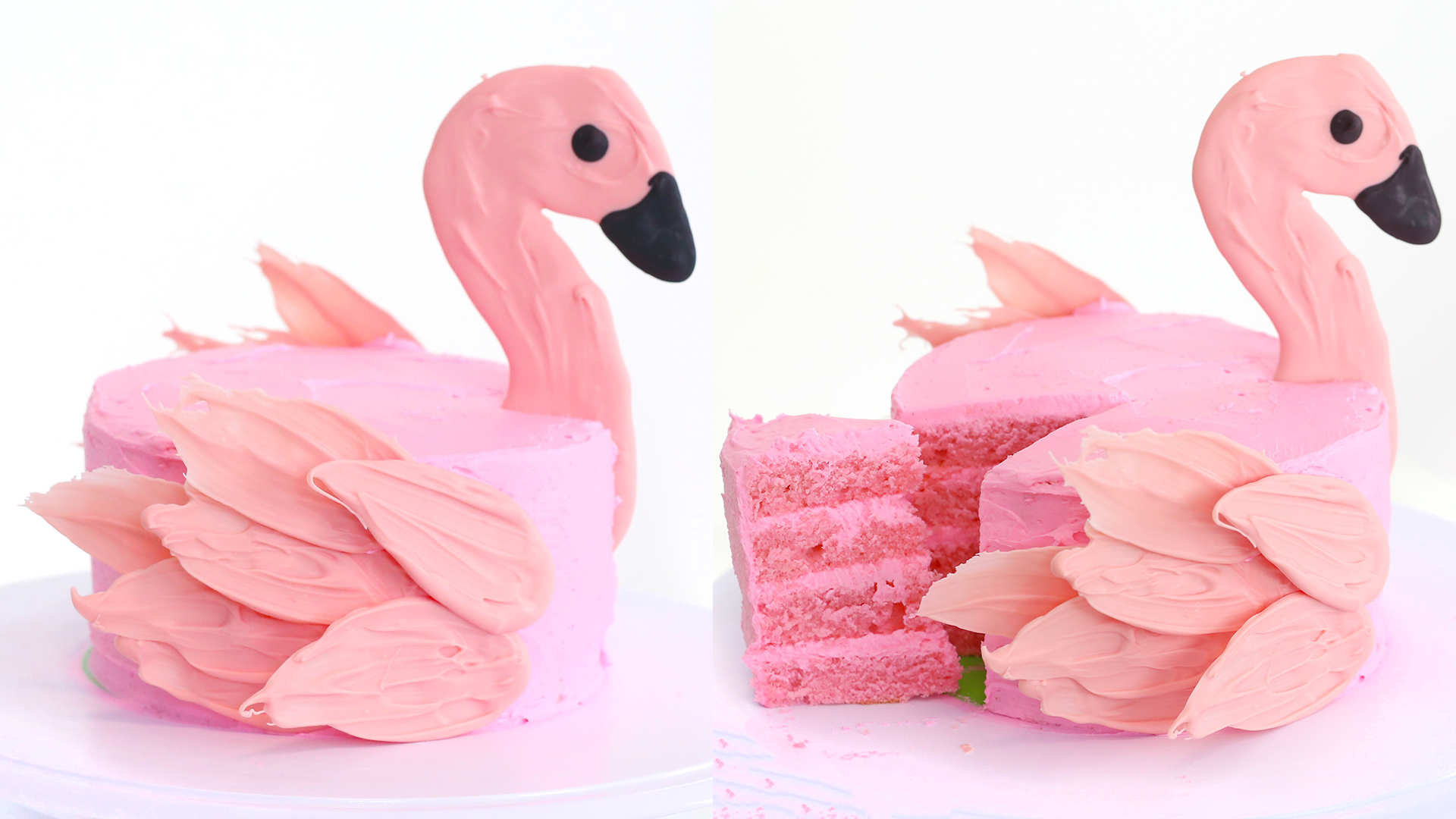 Flamingo Brushstroke Cake ~ Recipe | Tastemade