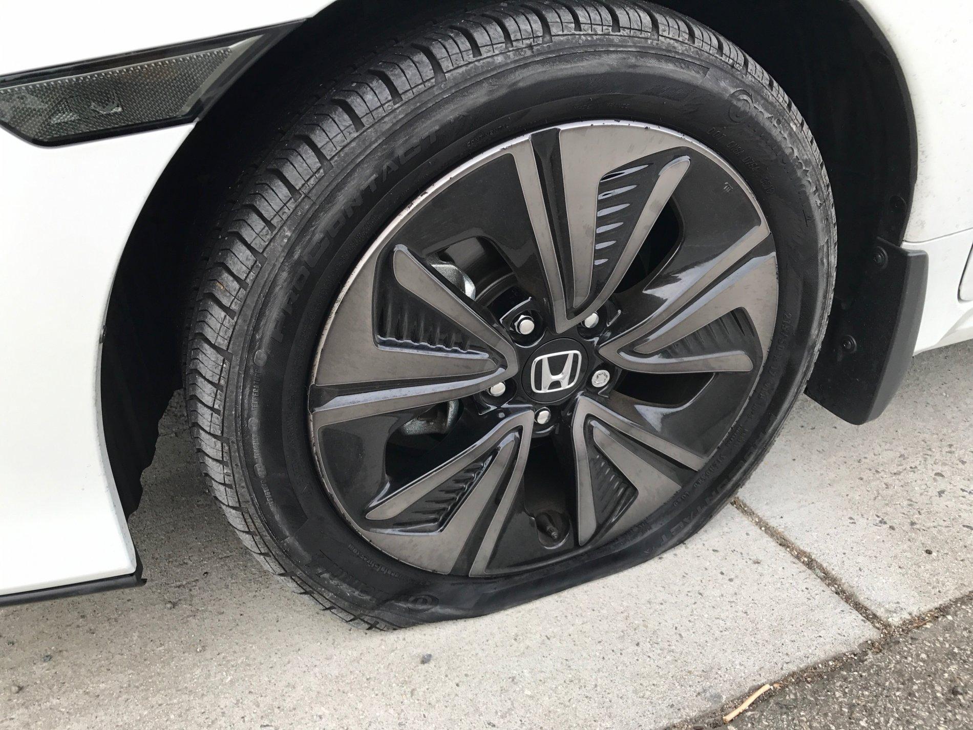 TPMS did not light up before flat tire | 2016+ Honda Civic Forum ...