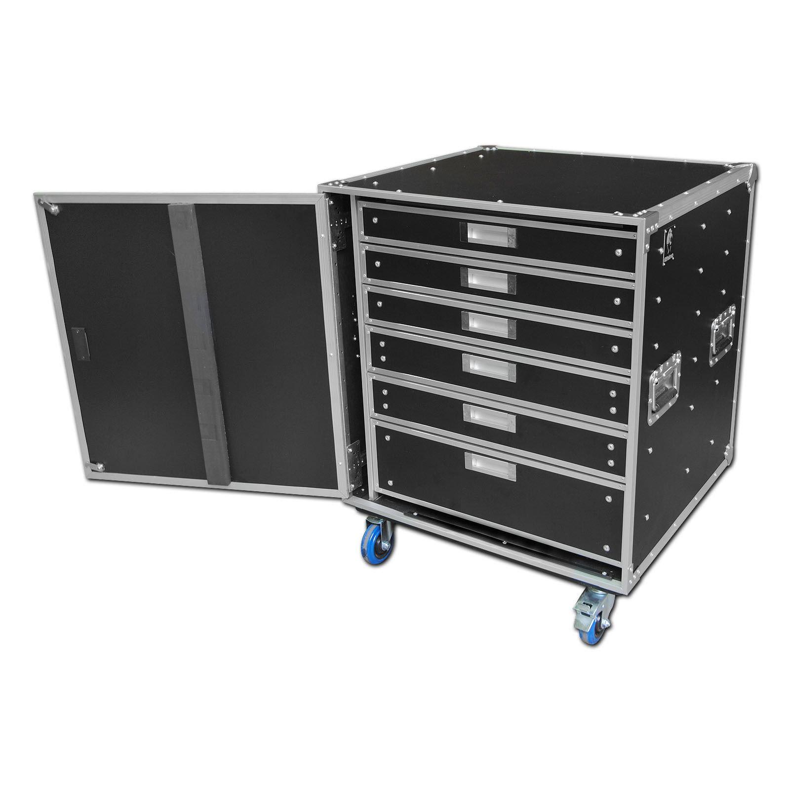 Rhino Production Flight Case With 6 Storage Drawers