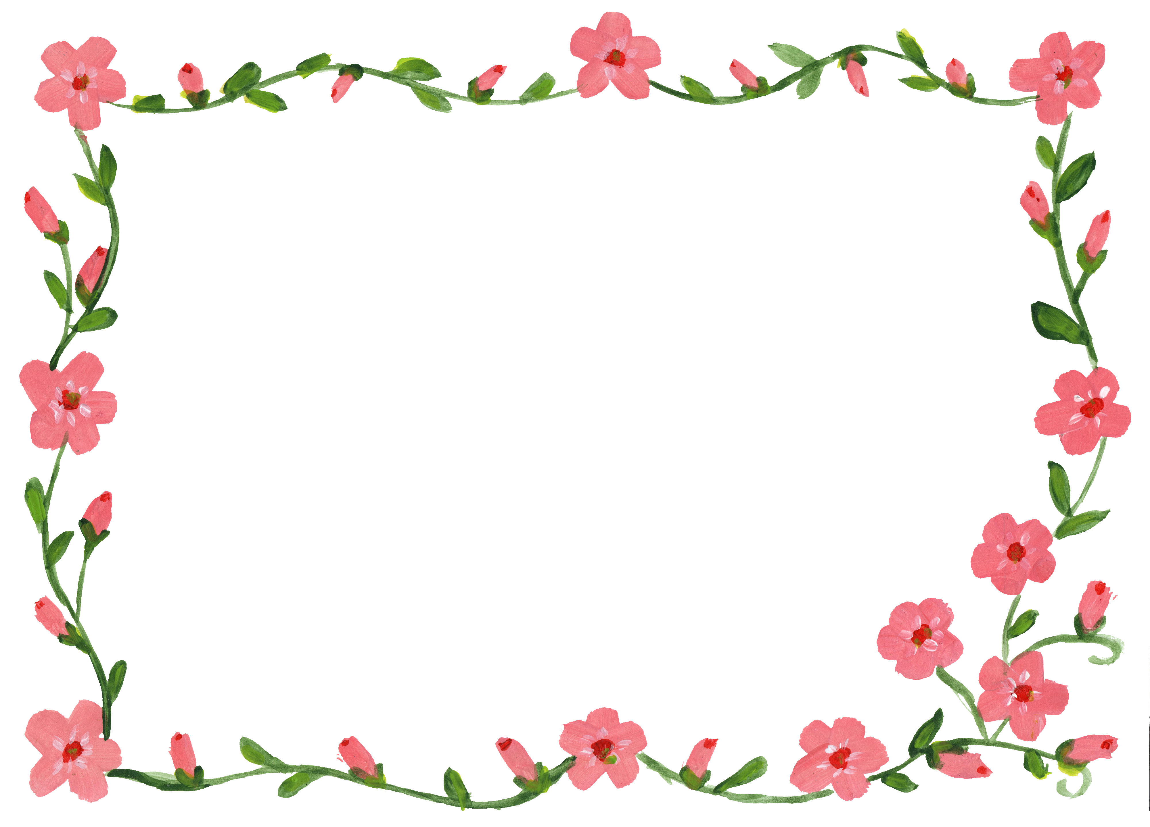 9 Floral Flower Frame (JPG) | OnlyGFX.com