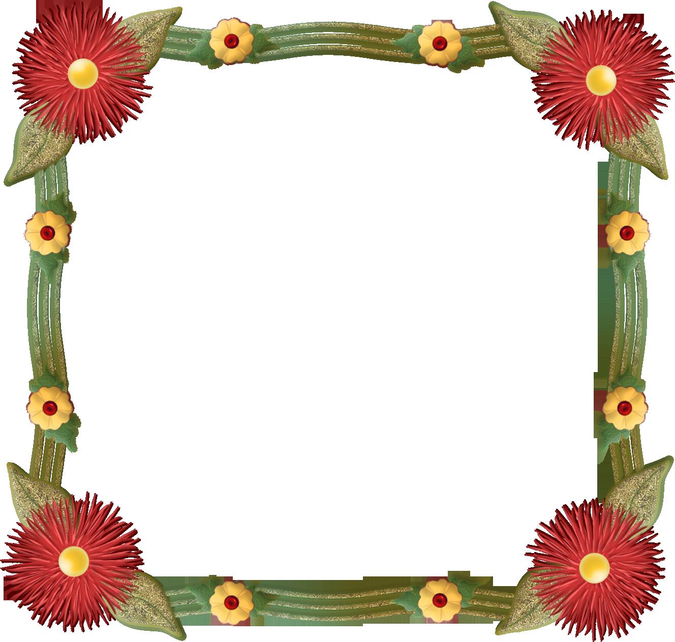 Floral frame photo