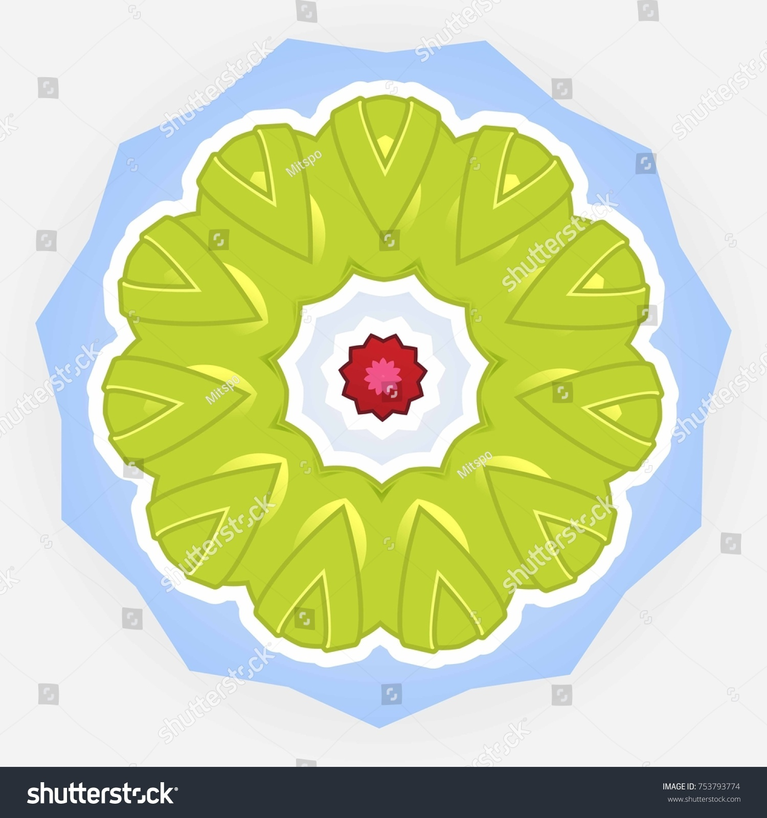 Calligraphy Abstract Floral Symmetry Element Vector Stock Vector HD ...