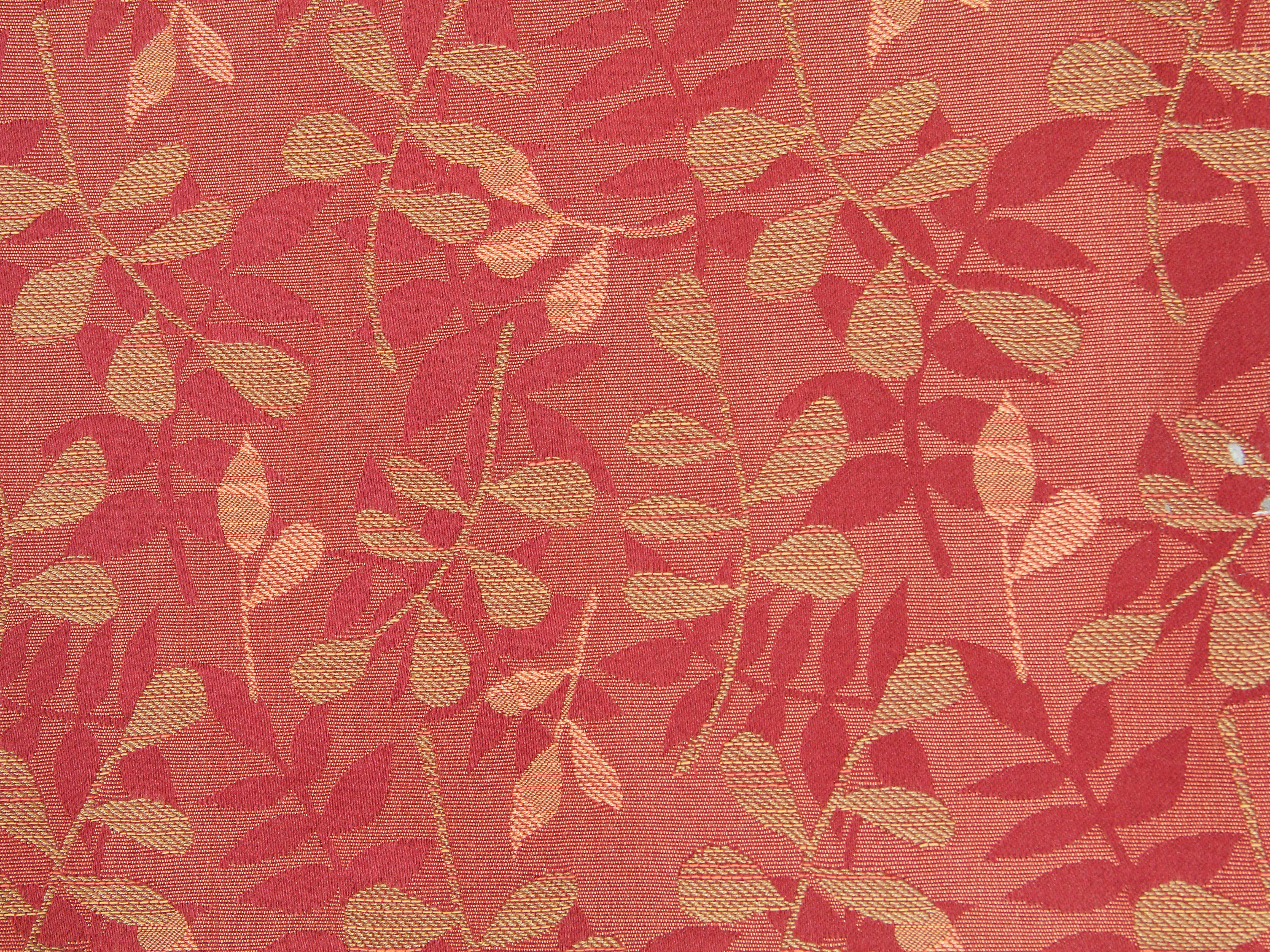 fabric texture red leaf pattern floral print desktop background ...