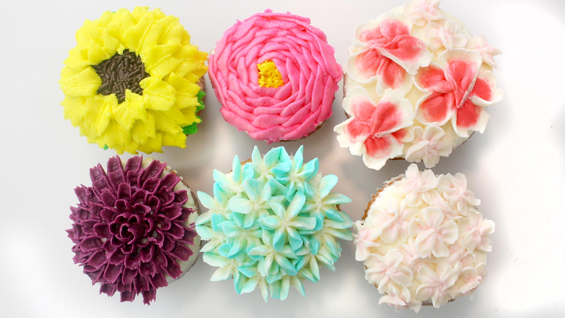 Buttercream Flower Cupcakes ~ Recipe | Tastemade
