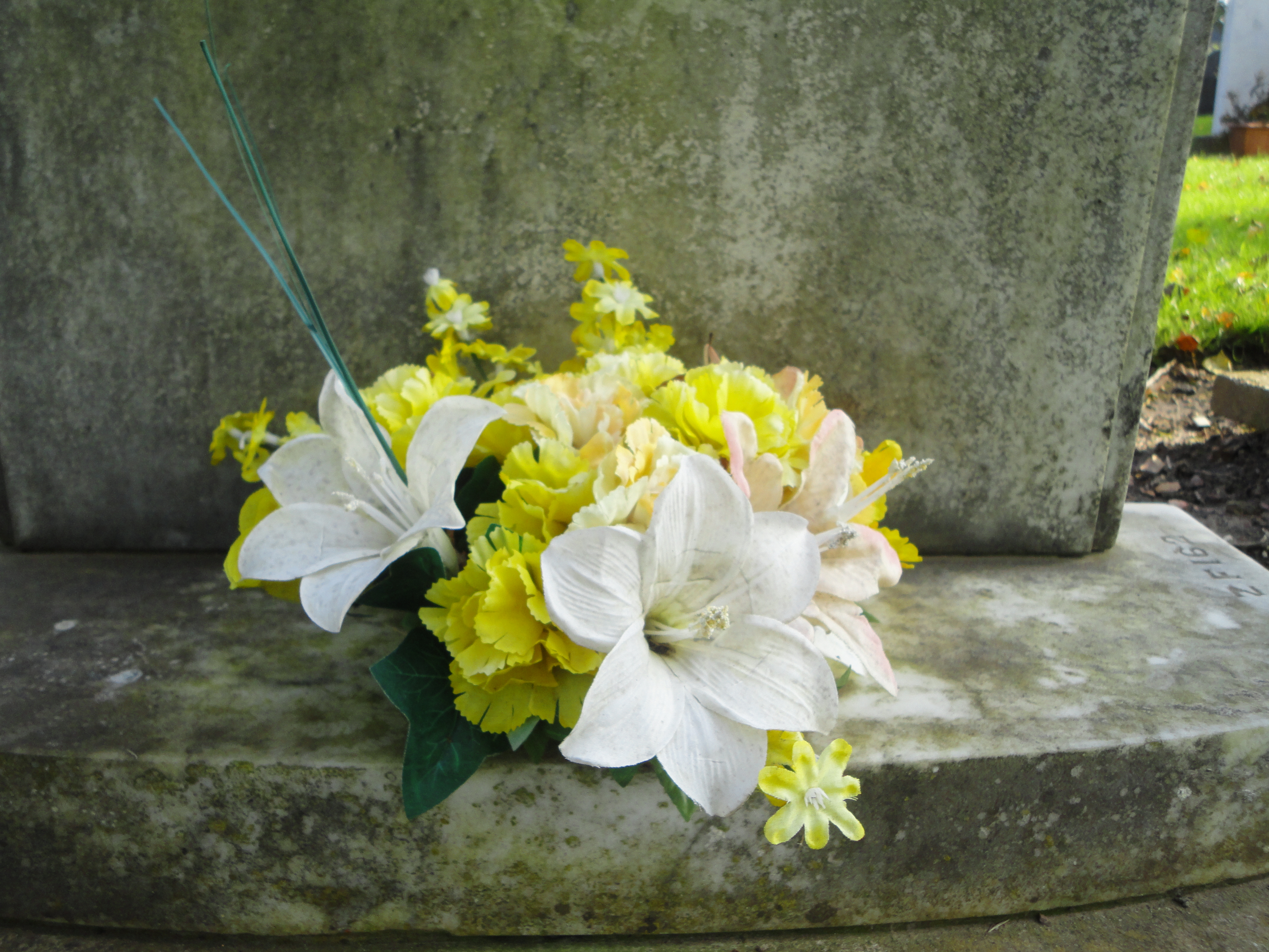 Flower at grave photo