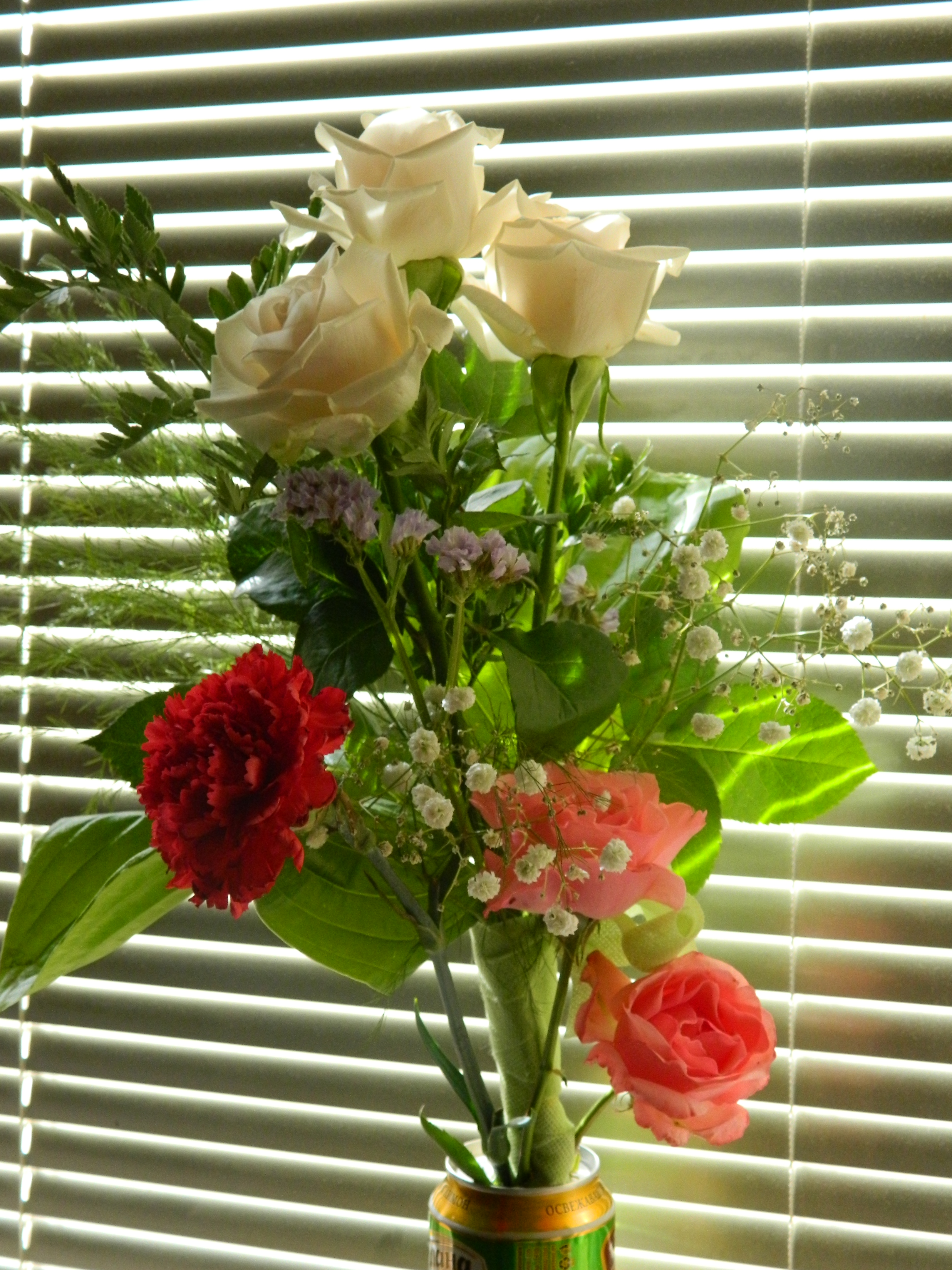 Free photo: Flower Bouquet - White, Roses, Red - Free Download - Jooinn