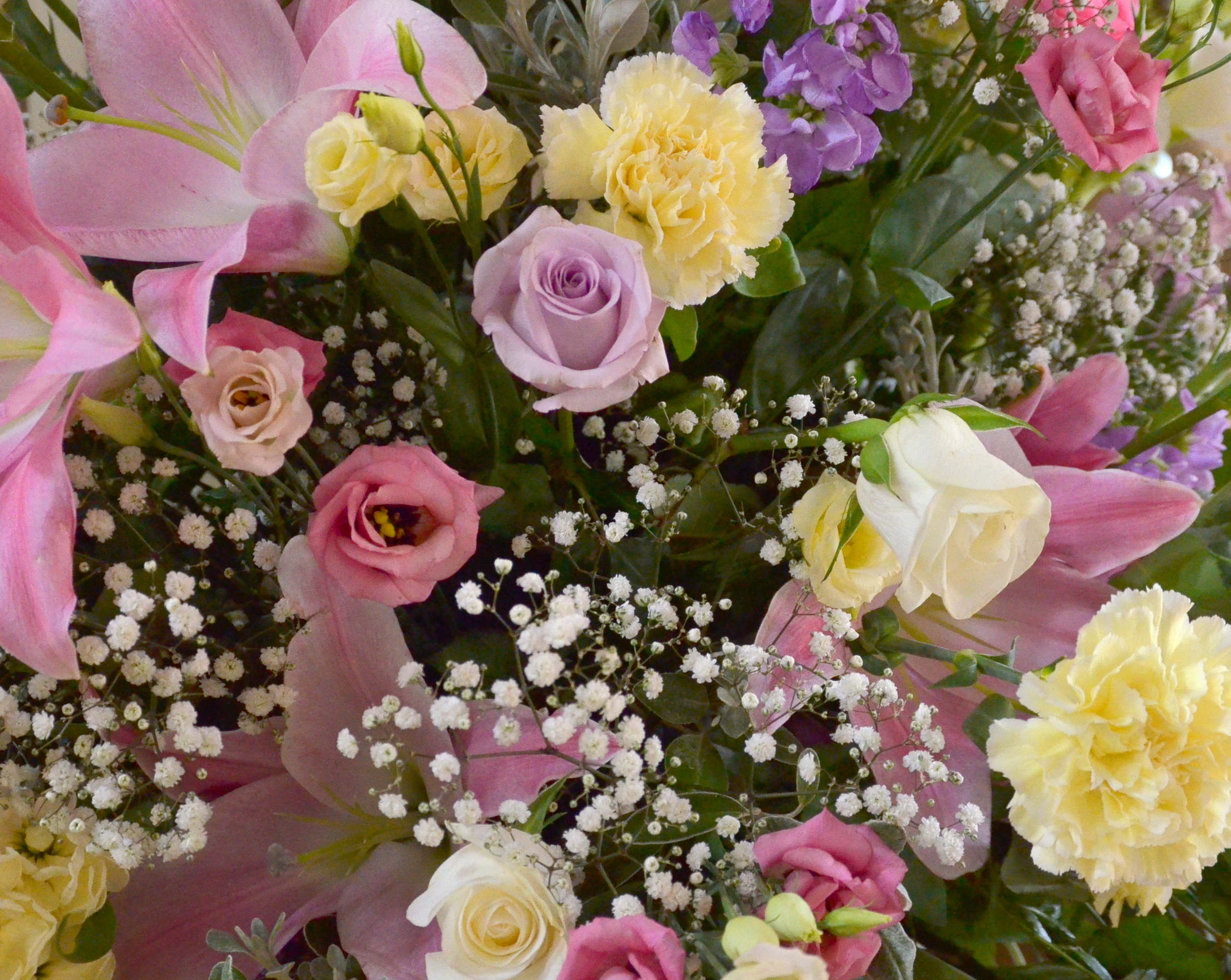 Free Photo Flower Bouquet Fragrant Lilies Roses Free Download